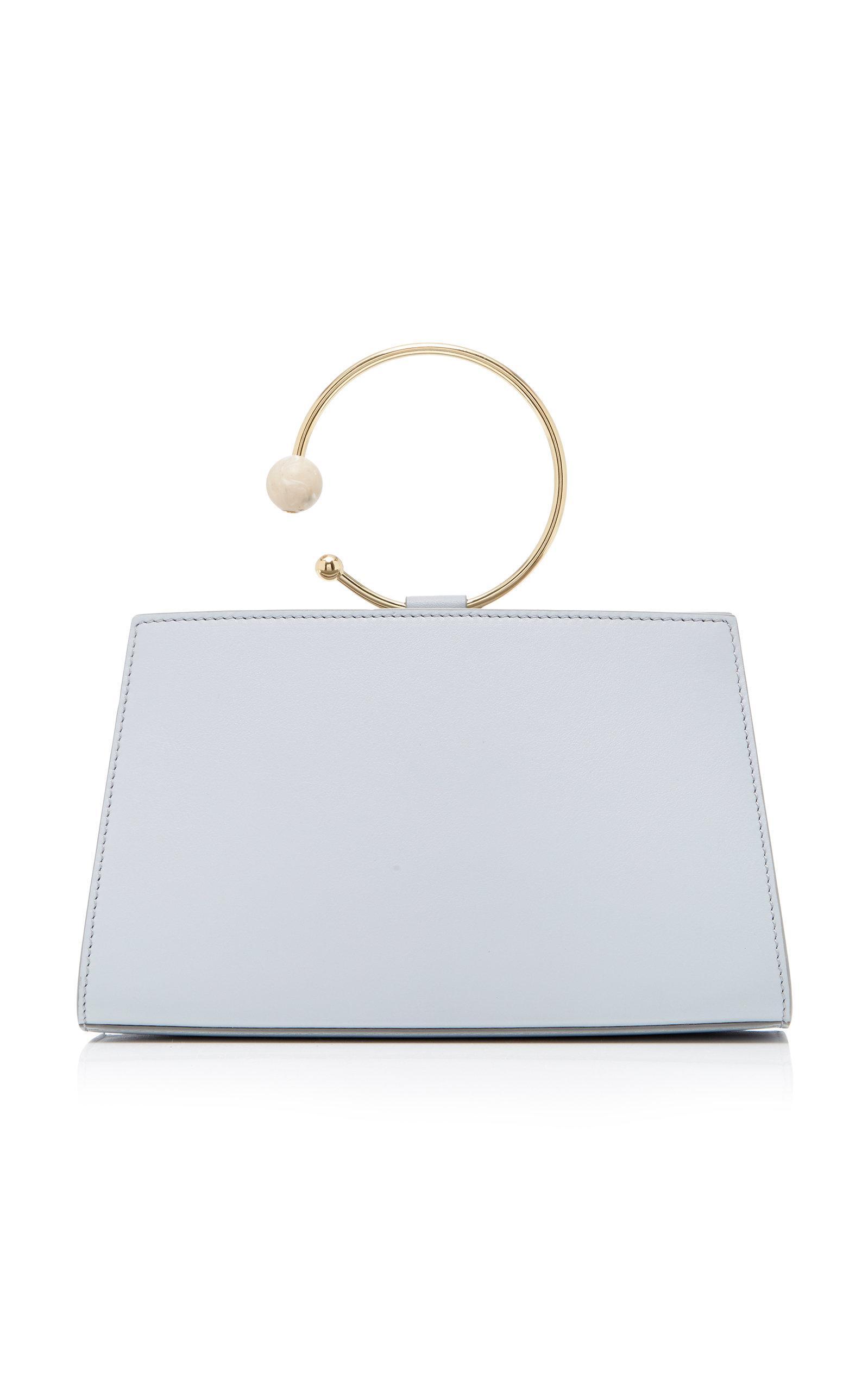 Adeam Art Frame Mini Bag In Blue
