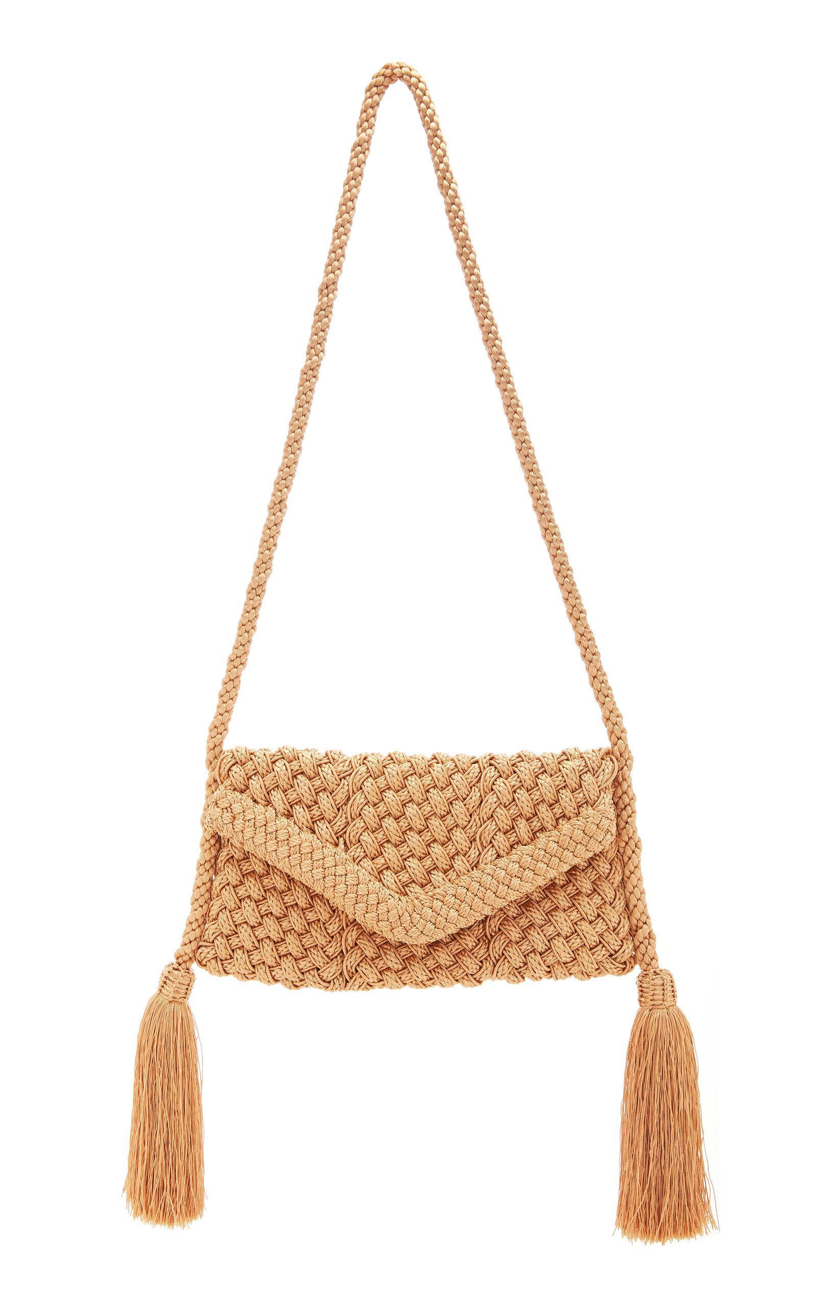 Rebecca De Ravenel Lala Passementerie Tassel Bag In Neutral