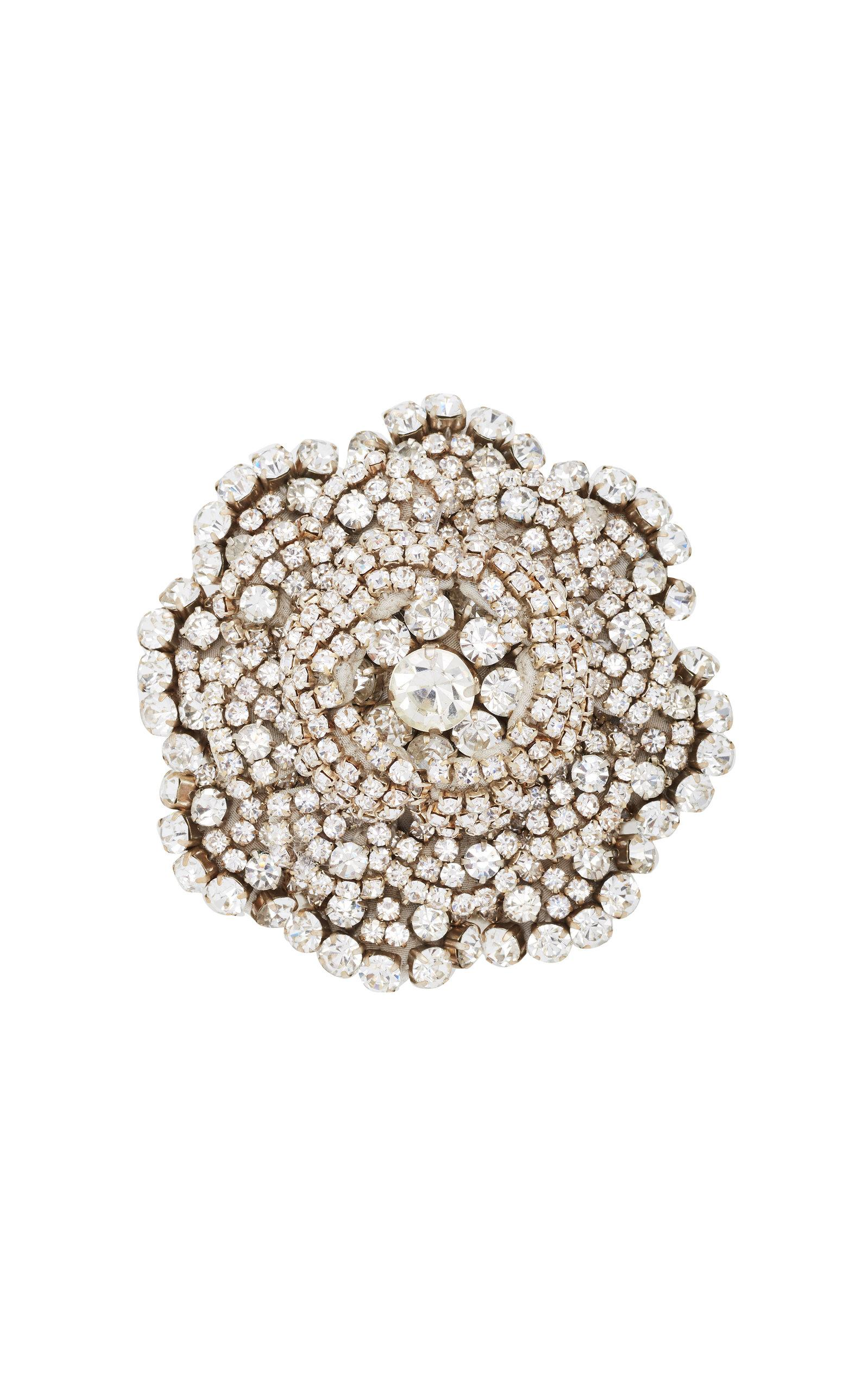 Rebecca De Ravenel Ava Crystal Brooch In White
