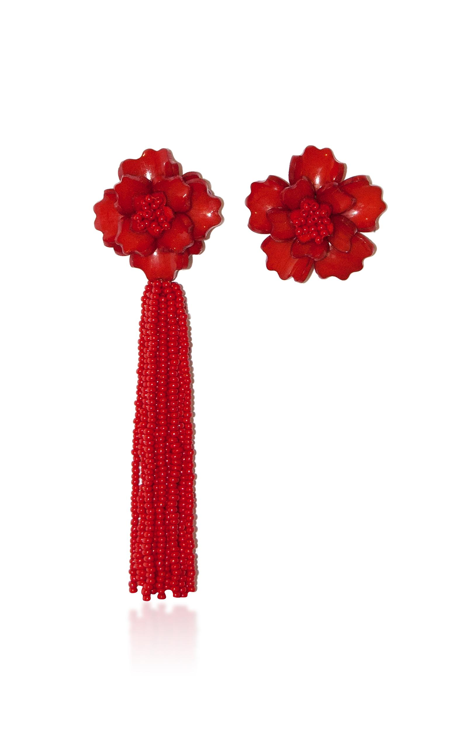 All Things Mochi The Zinnia Earrings In Red