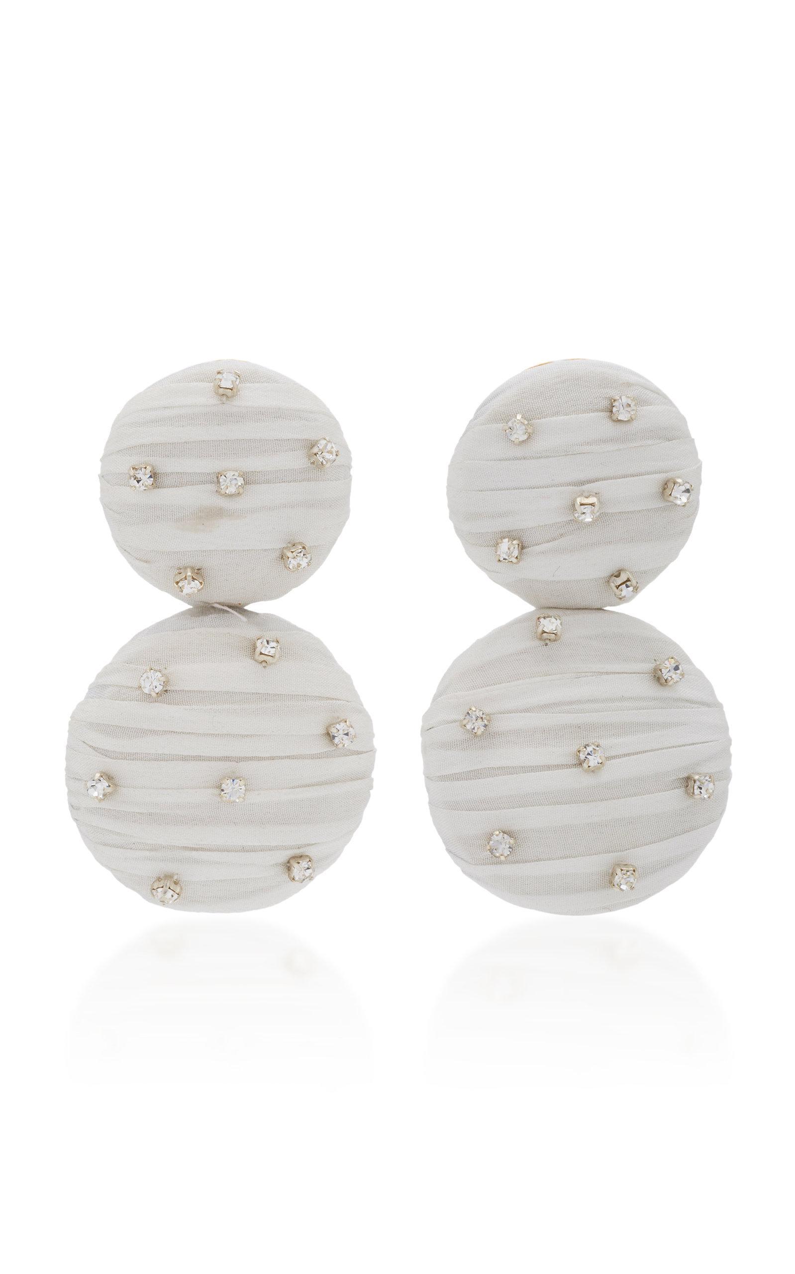 Rebecca De Ravenel Maria Crystal Earrings In White