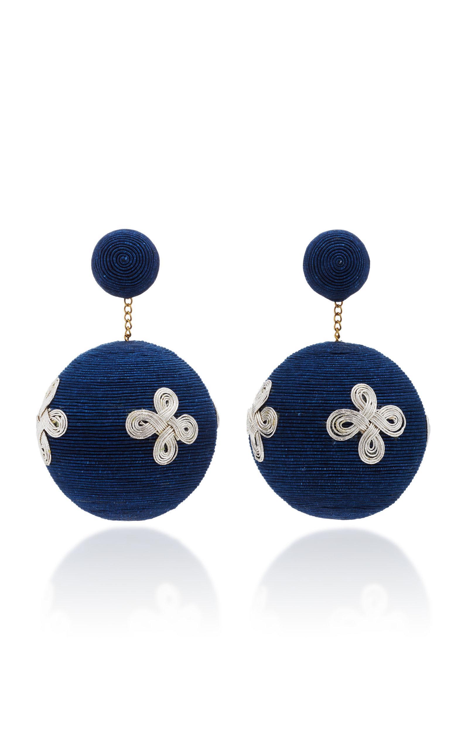 Rebecca De Ravenel Pandora Knot Navy Earrings