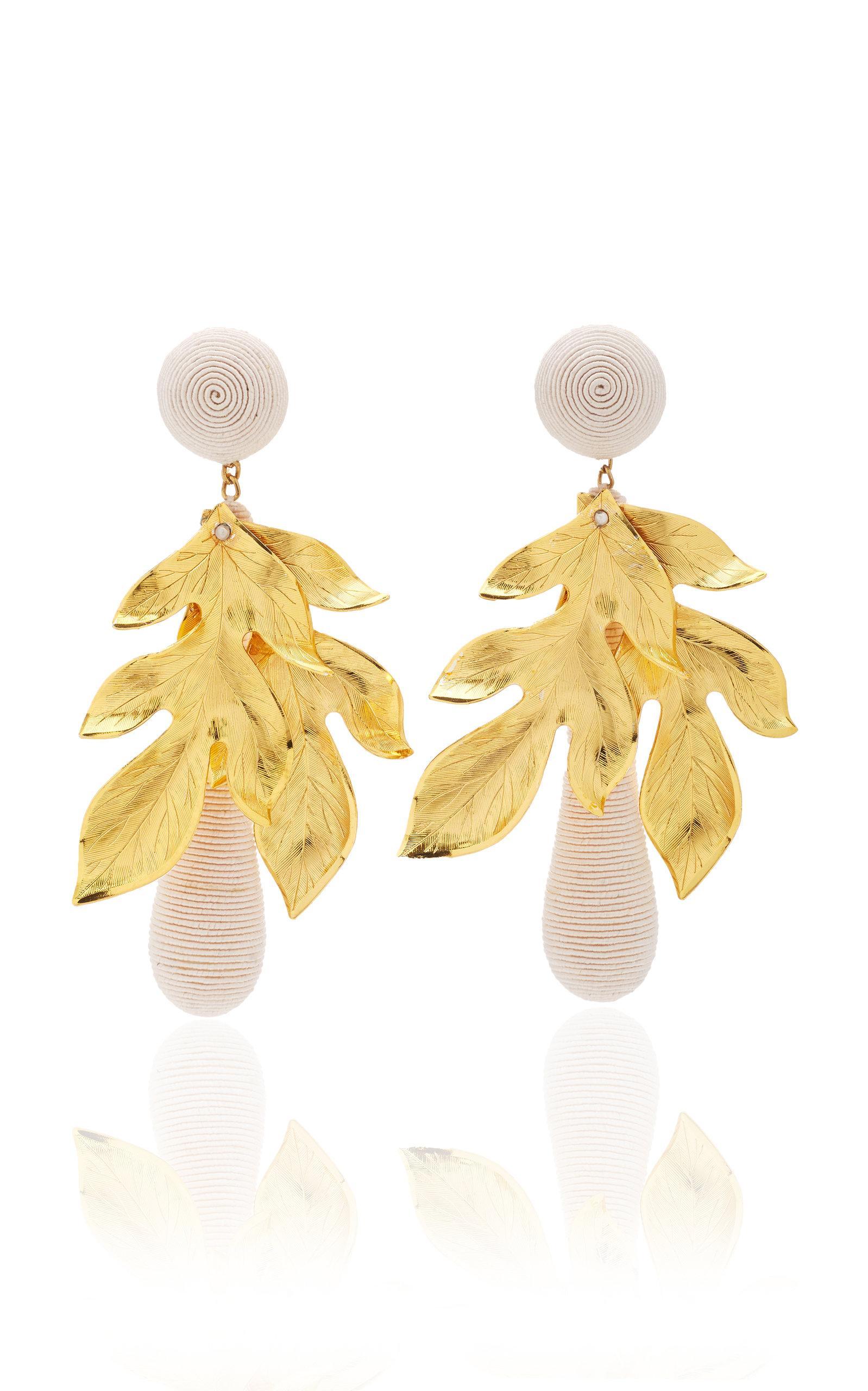 Rebecca De Ravenel Violetta White Earrings
