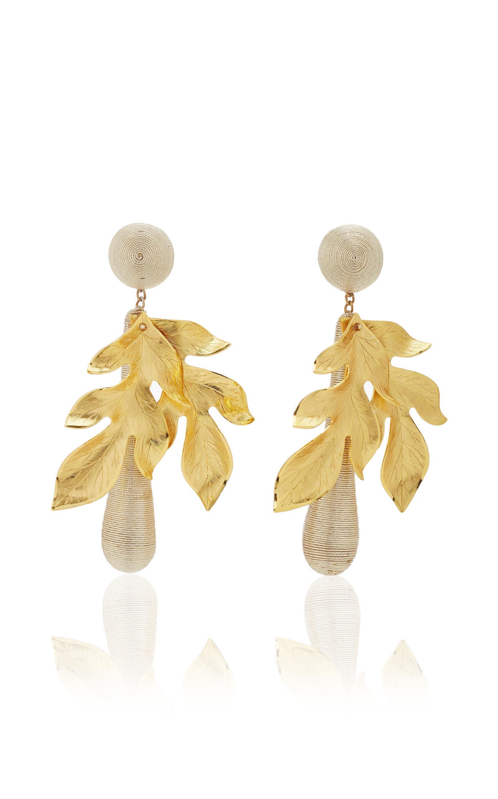 Rebecca De Ravenel Violetta Gold Earrings