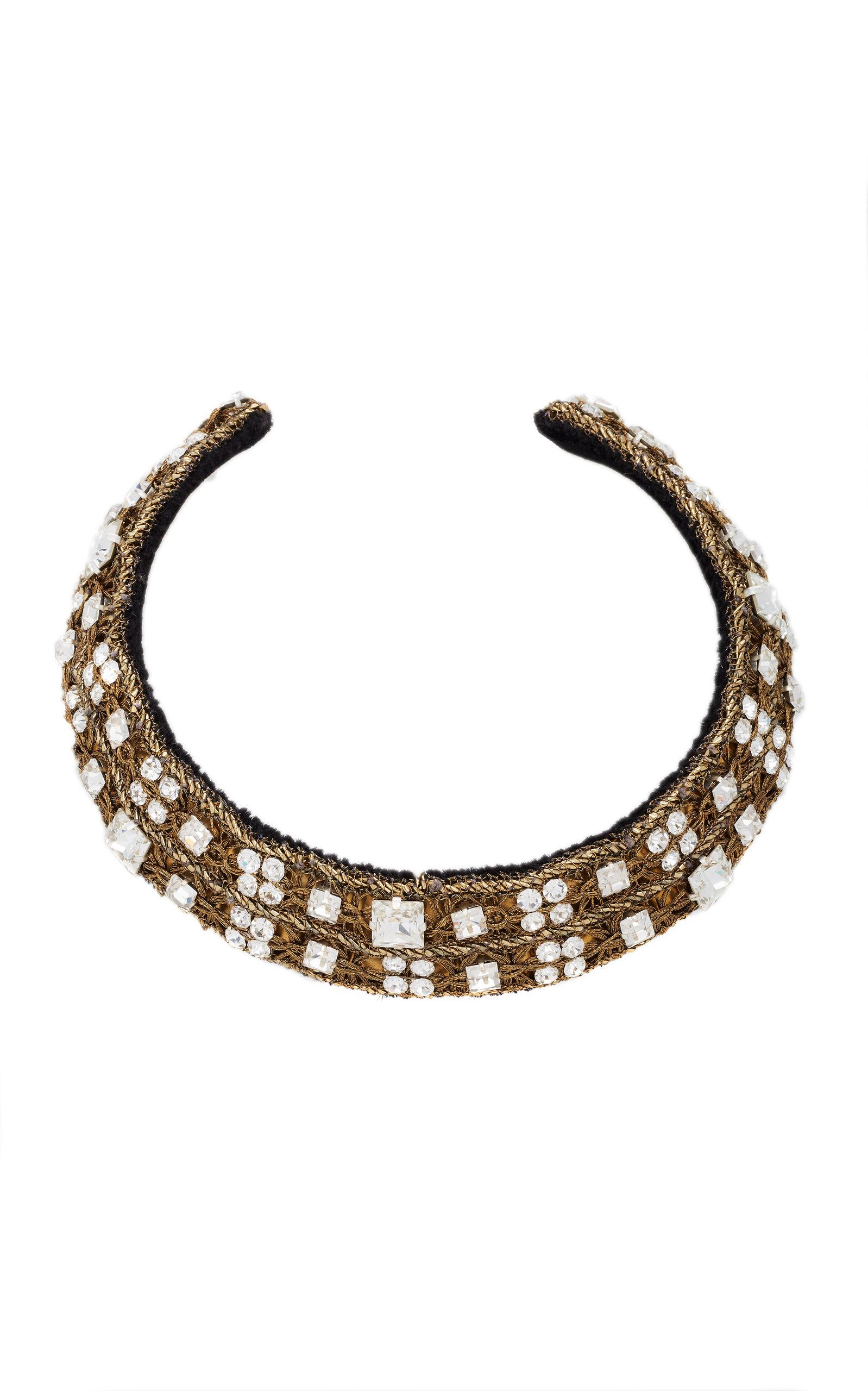 Rebecca De Ravenel Carmen Crystal Collar In White
