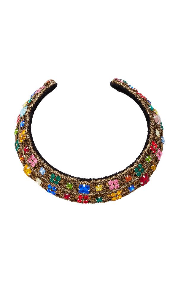 Rebecca De Ravenel Carmen Embellished Collar In Multi