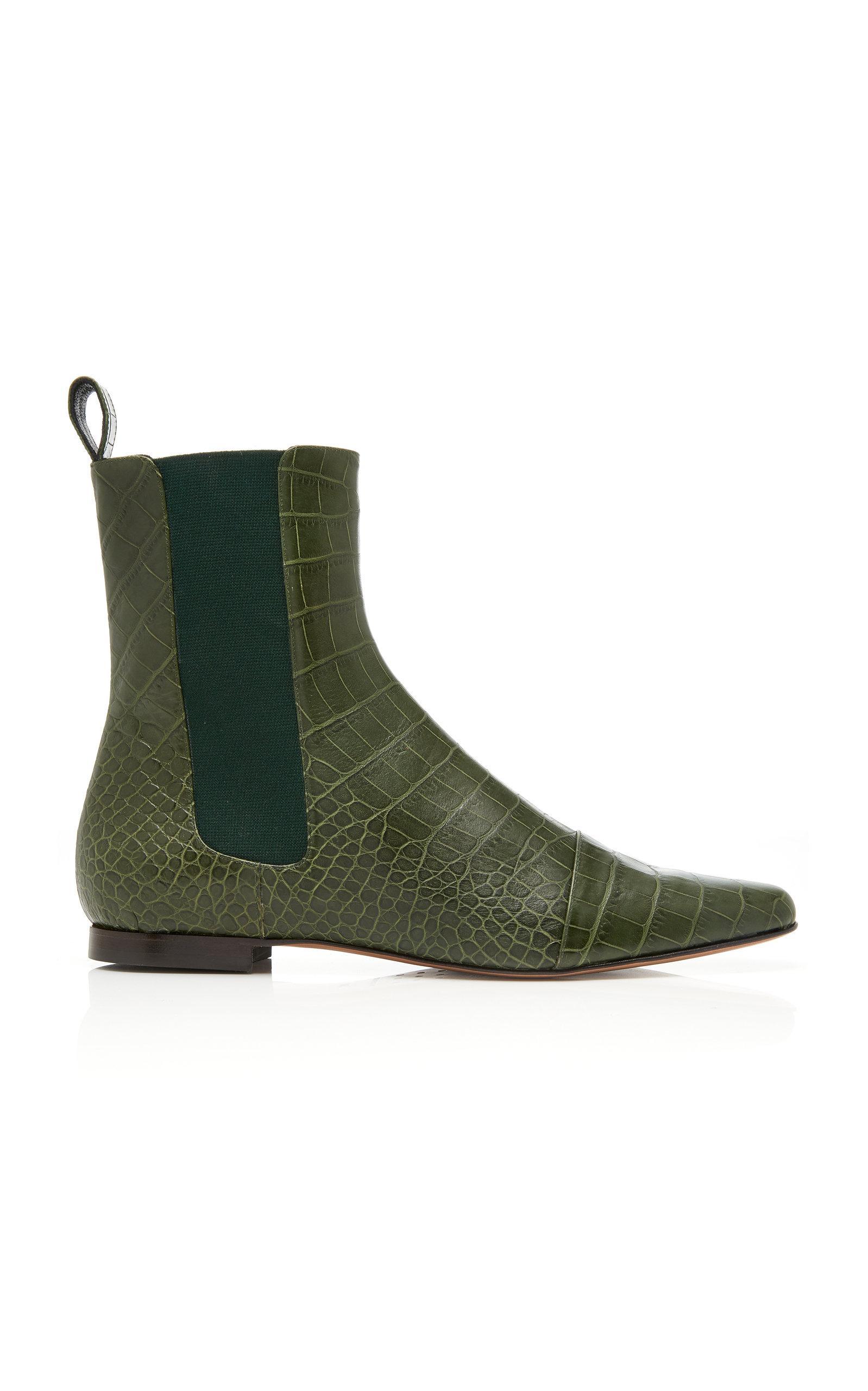 Trademark Flat Delphine Boot In Green
