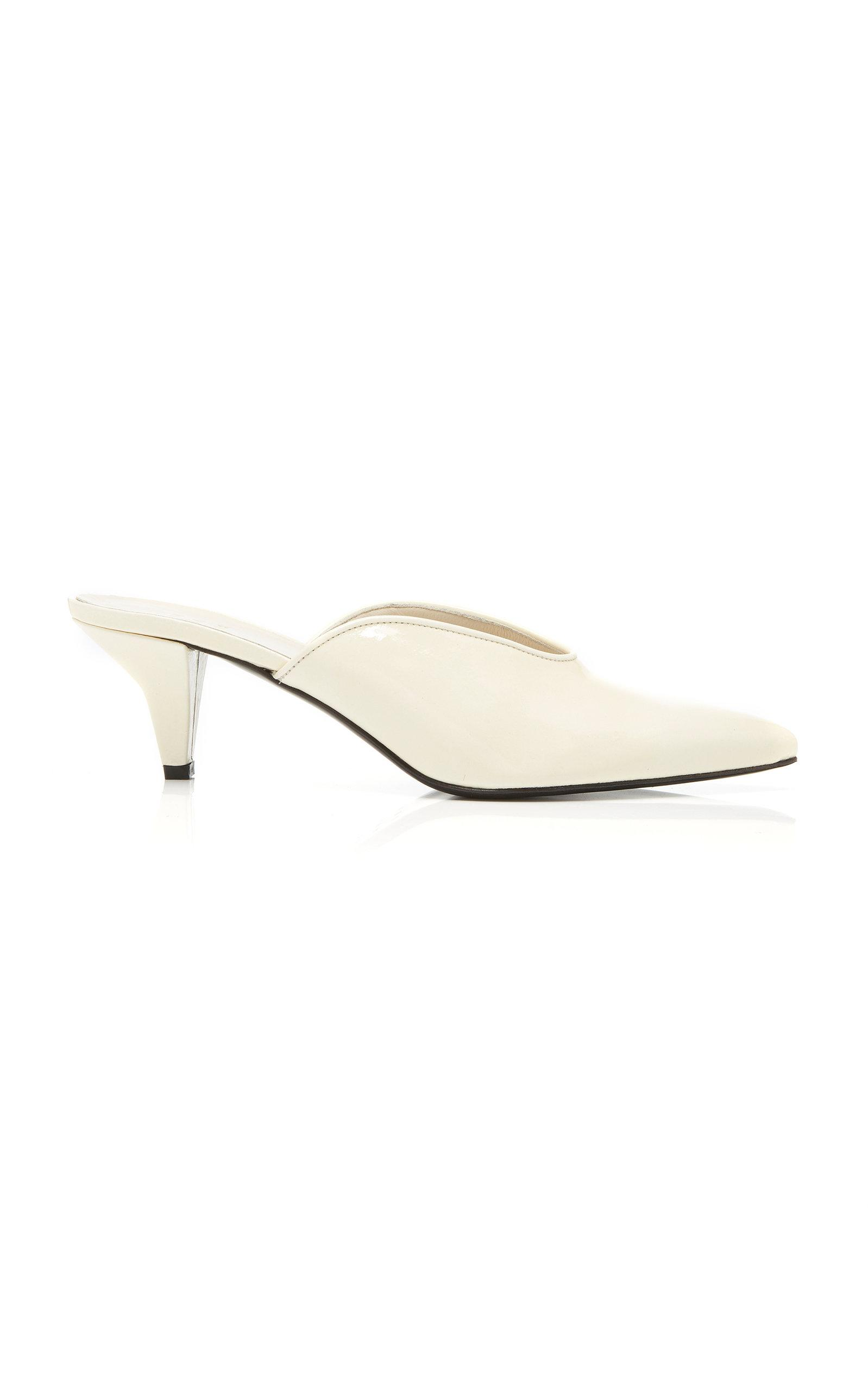 Trademark Ruby Patent Mule In White