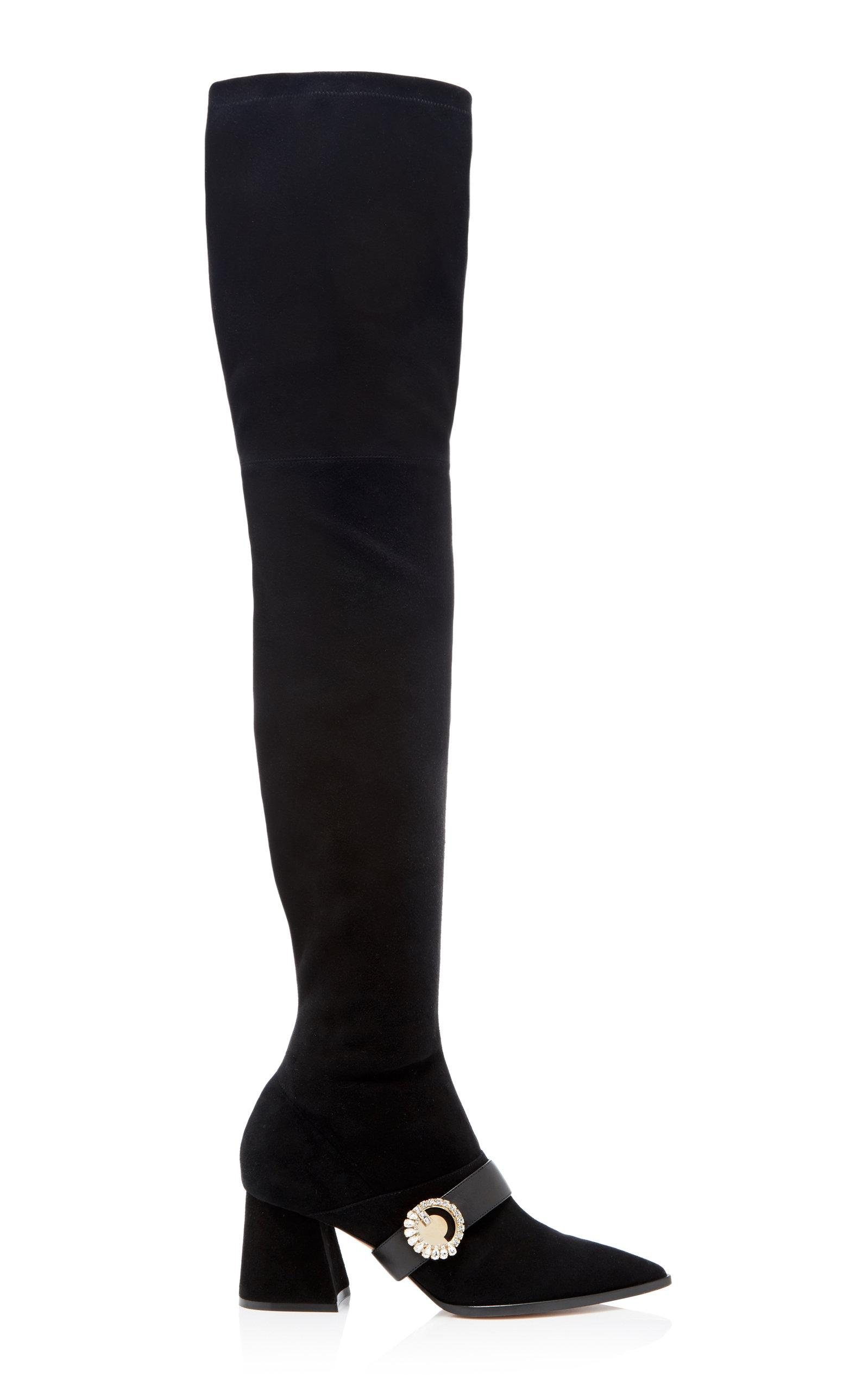 Adeam Knee Boot In Black