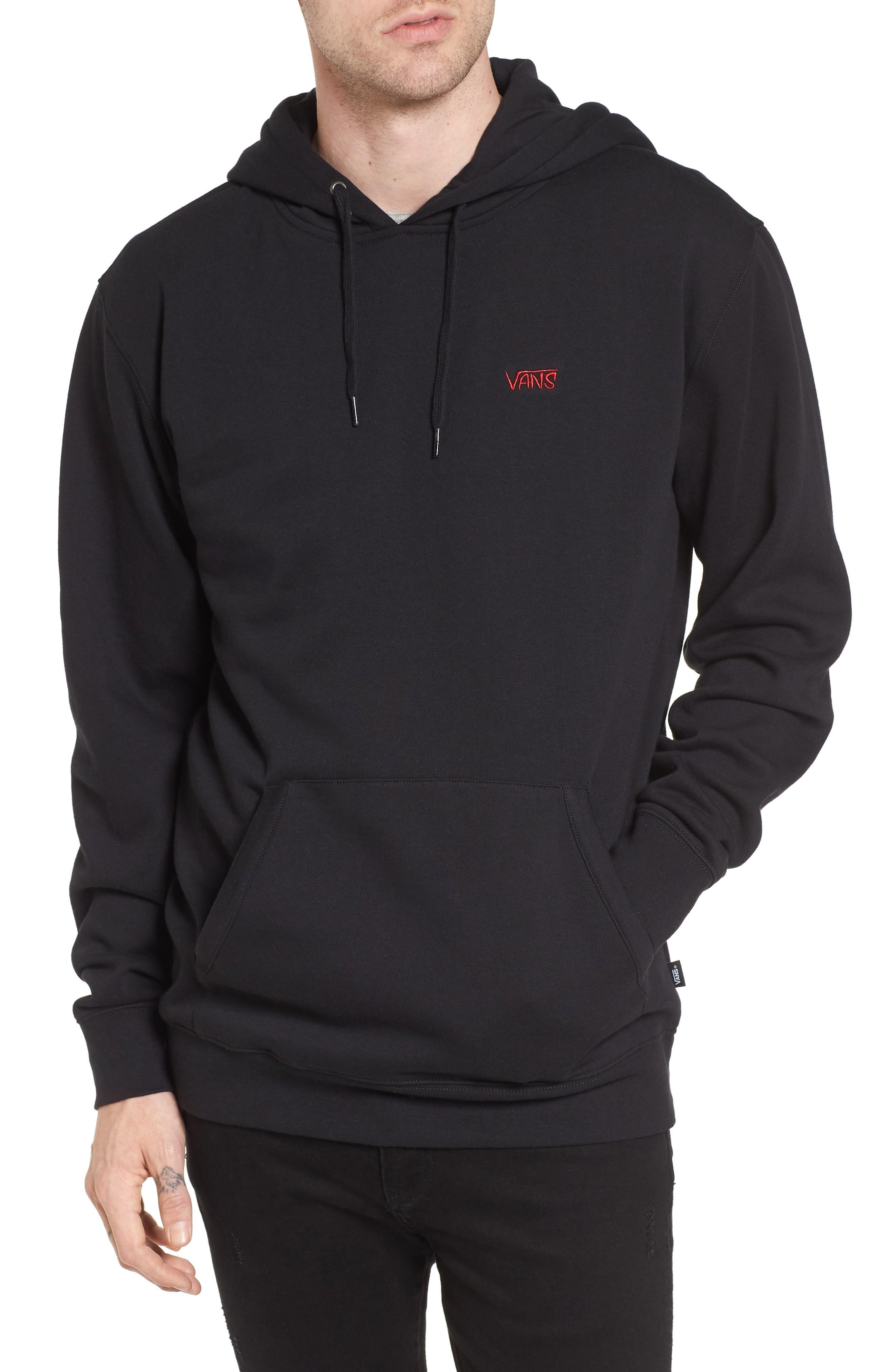 Vans Sketch Tape Hoodie Sweatshirt In Black