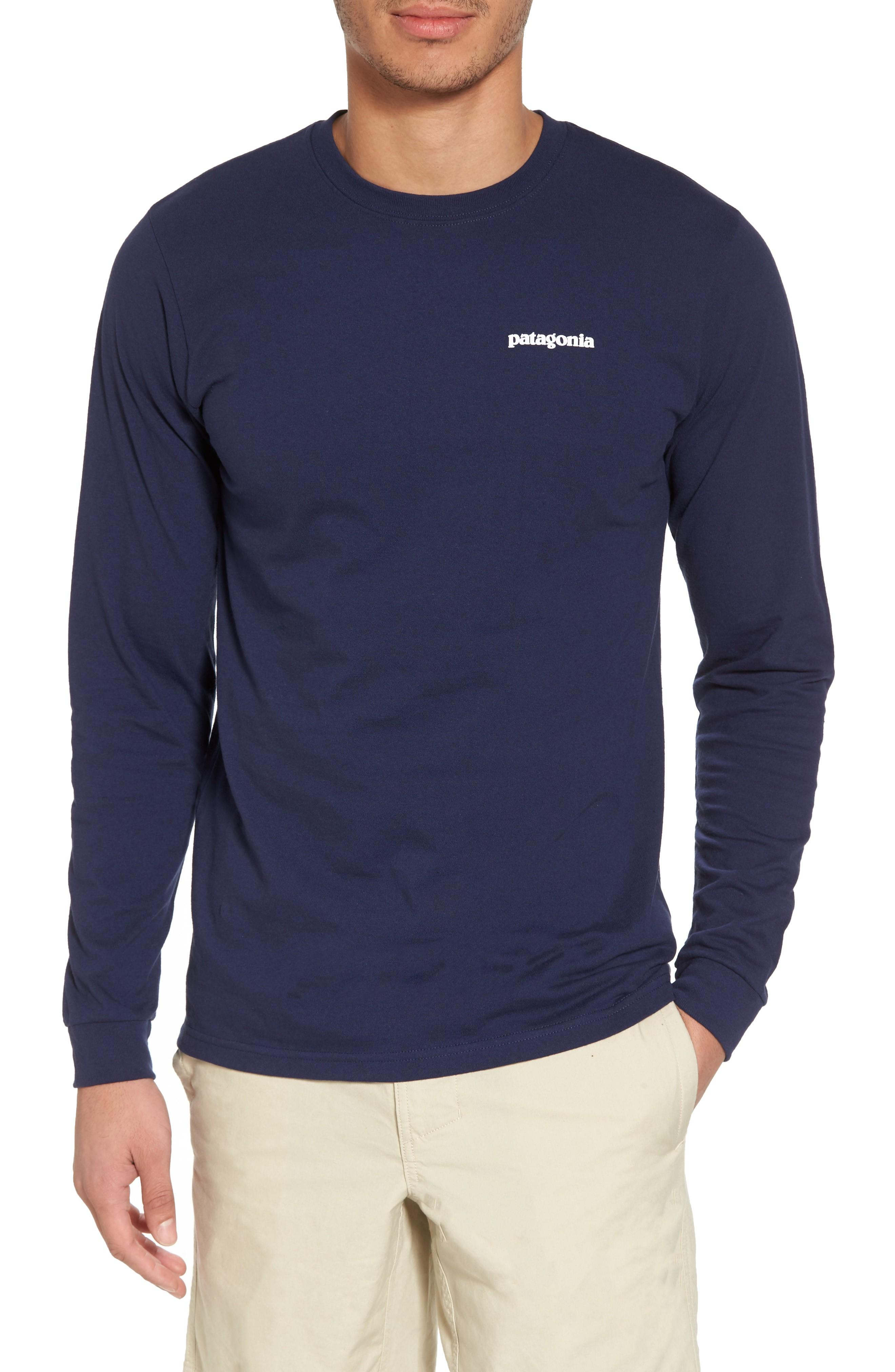 Patagonia Responsibili-Tee Long Sleeve T-Shirt In Classic Navy