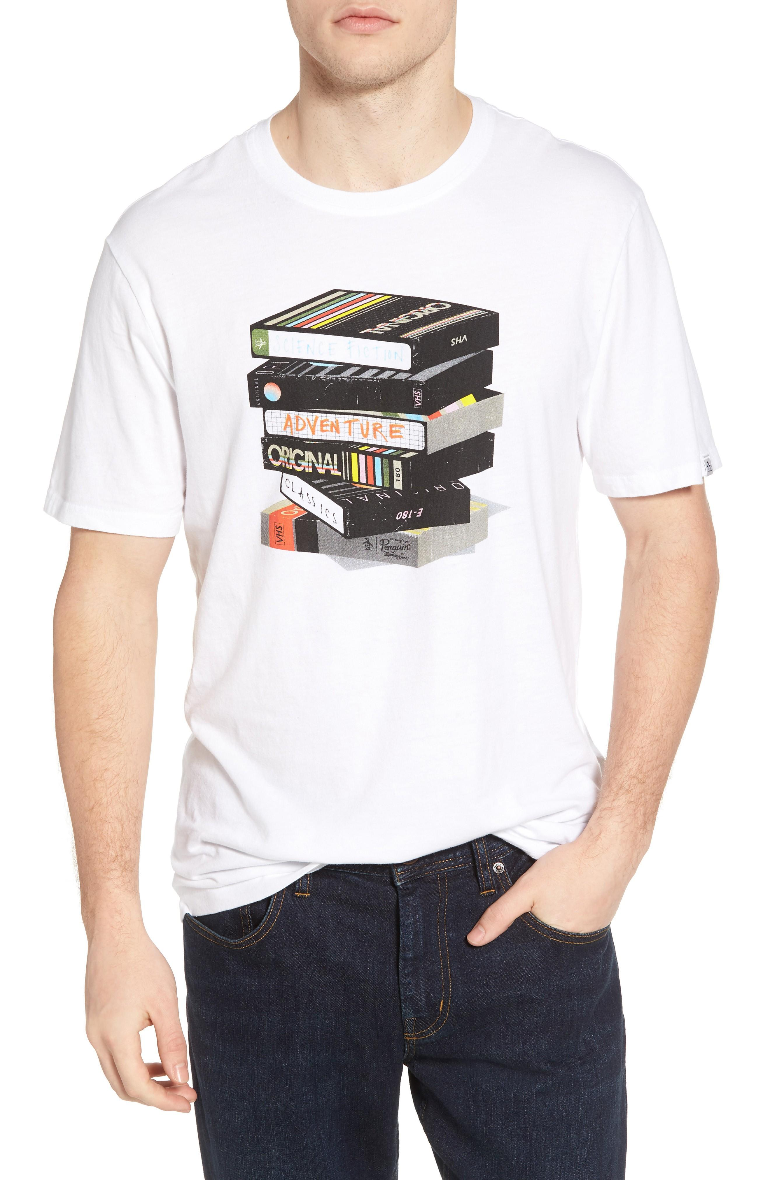 Original Penguin Be Kind Rewind T-shirt In Bright White