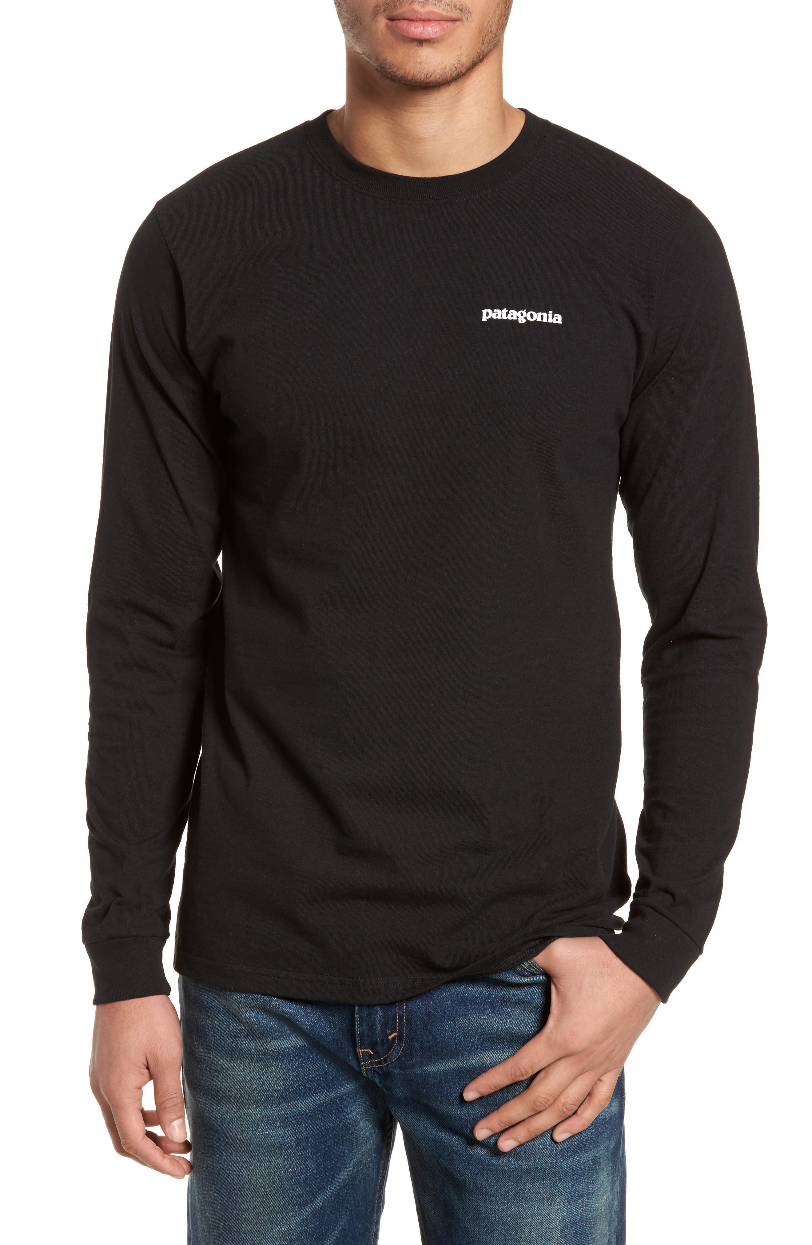 Patagonia Responsibili-Tee Long Sleeve T-Shirt In Black