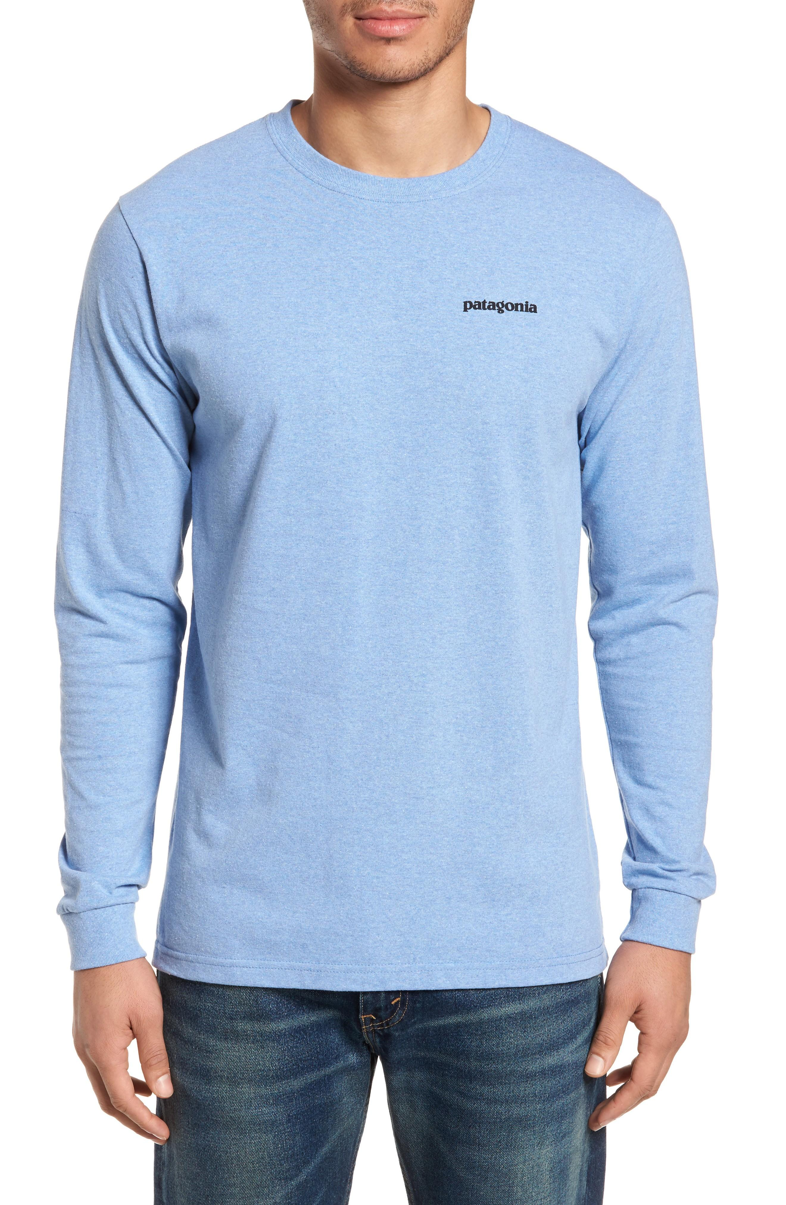 Patagonia Responsibili-tee Long Sleeve T-shirt In Railroad Blue