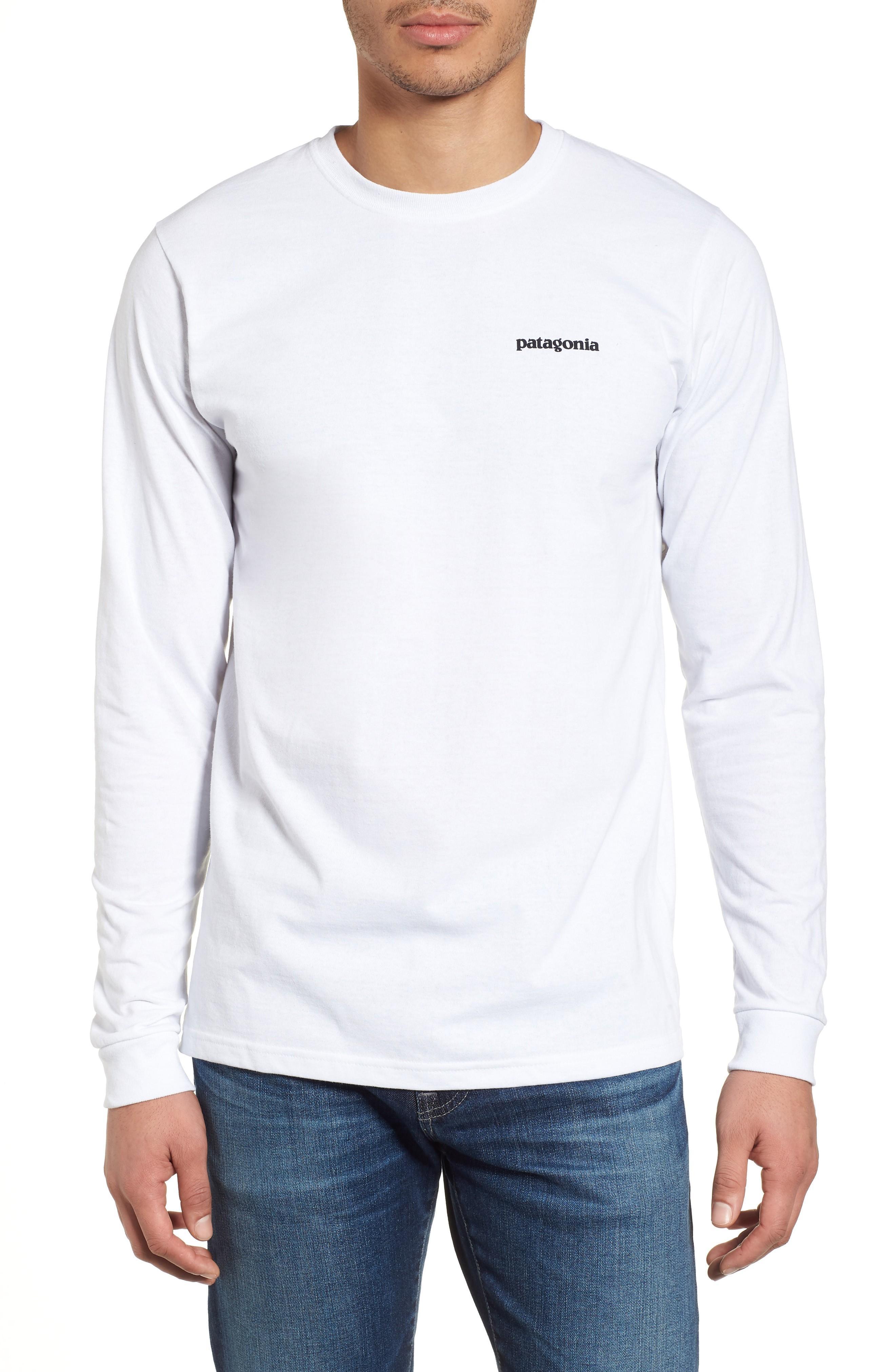 Patagonia Responsibili-Tee Long Sleeve T-Shirt In White