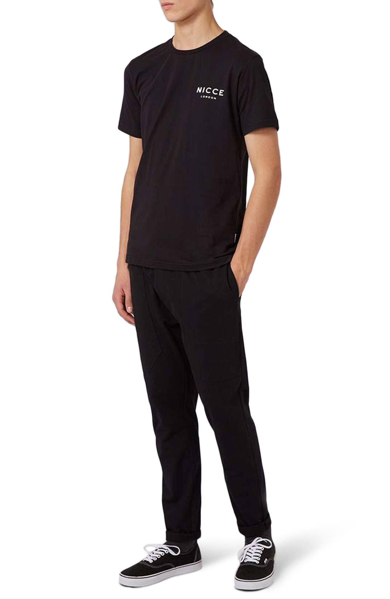 Topman Nicce Graphic T-shirt In Black