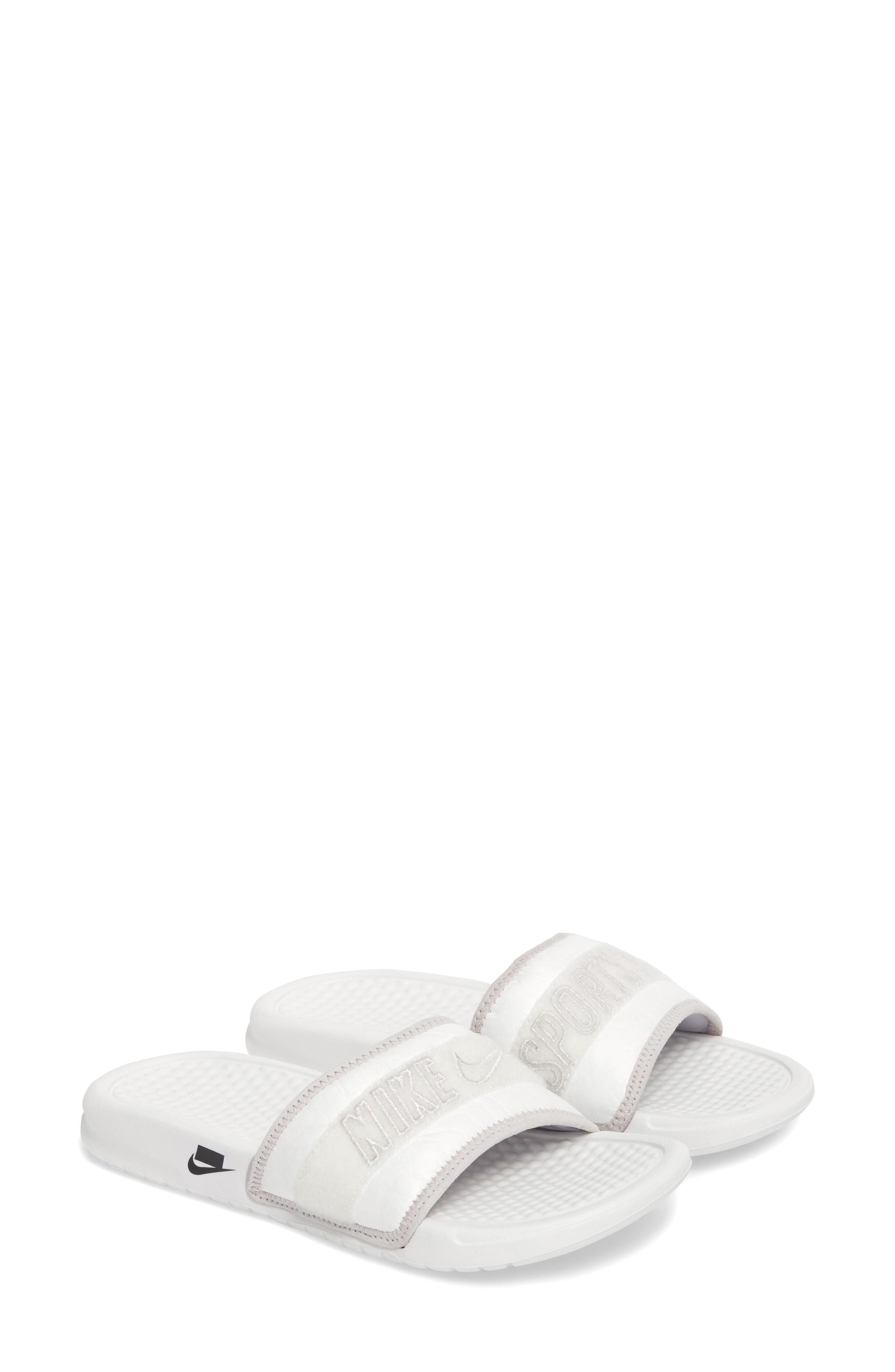 d5e02cf522bb Nike Benassi Jdi Tivek Sport Slide In Summit White  Vast Grey  Black ...