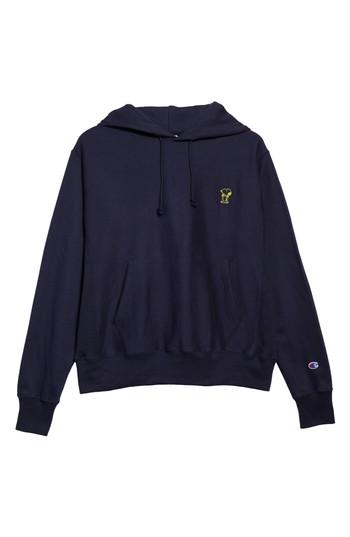 Champion Snoopy Unisex Pullover Hoodie In Navy