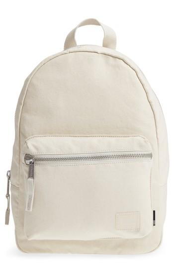 Herschel Supply Co. X-small Grove Cotton Canvas Backpack - Grey In Silver Birch