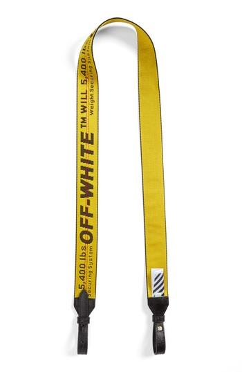 Off-white Bag Strap - Yellow In Yellow/ Black
