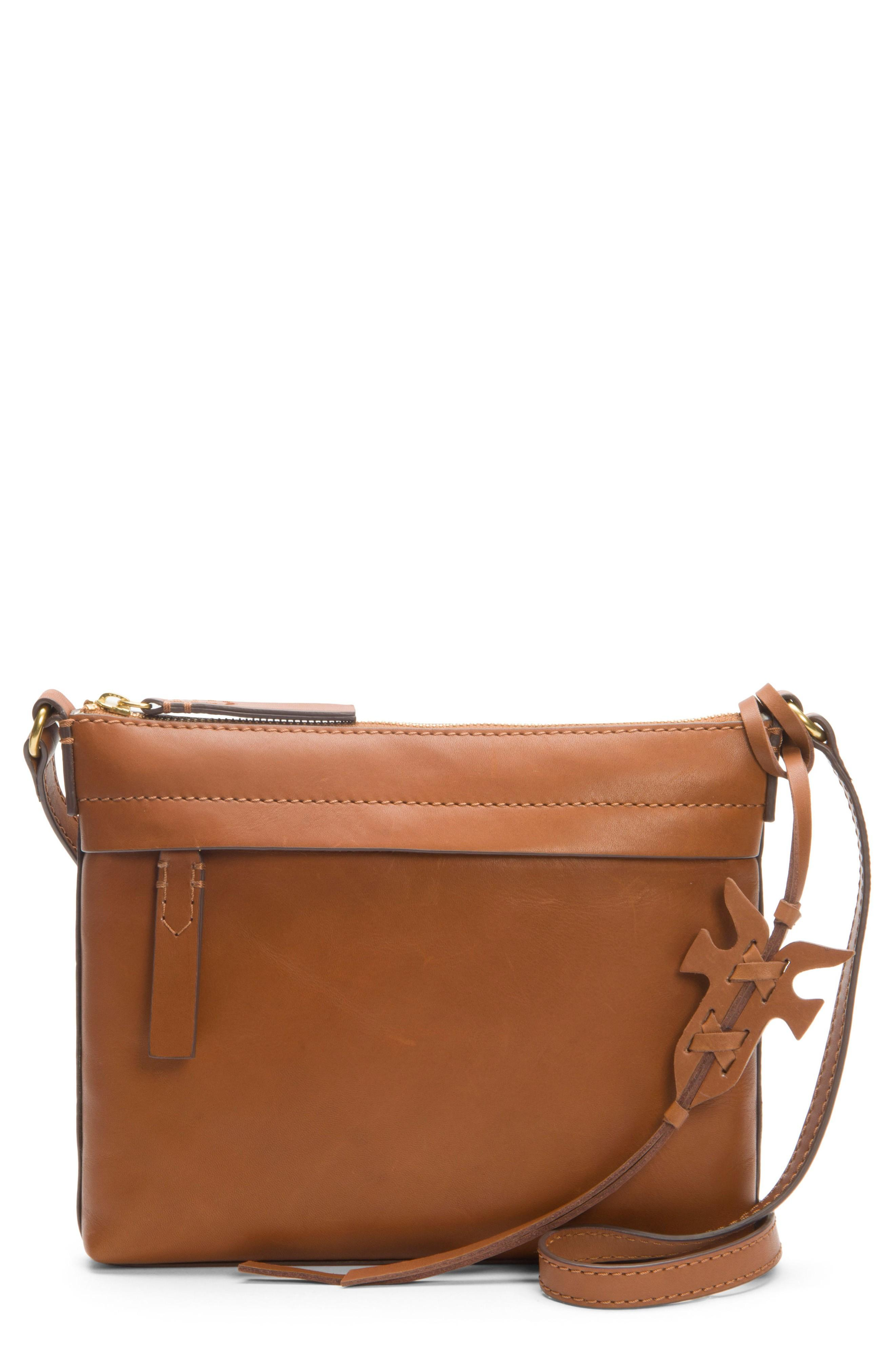 Frye Carson Leather Crossbody Bag - Brown In Cognac