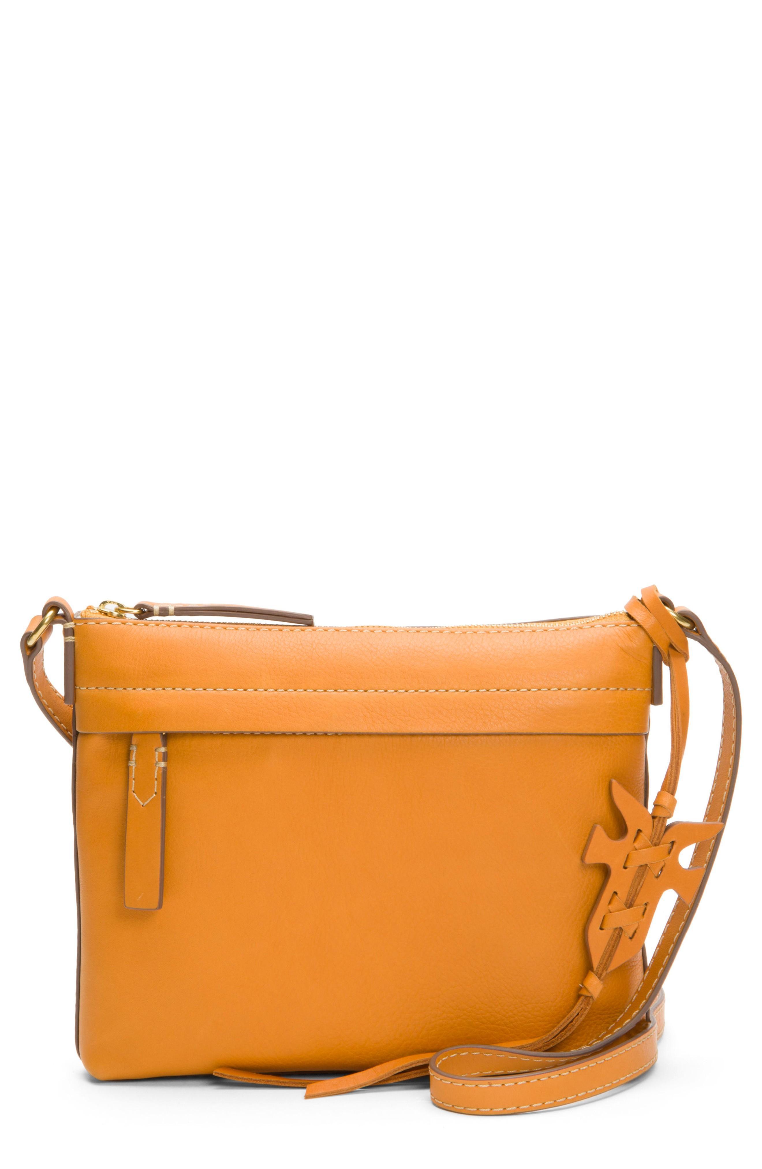 Frye Carson Leather Crossbody Bag - Orange In Sunrise