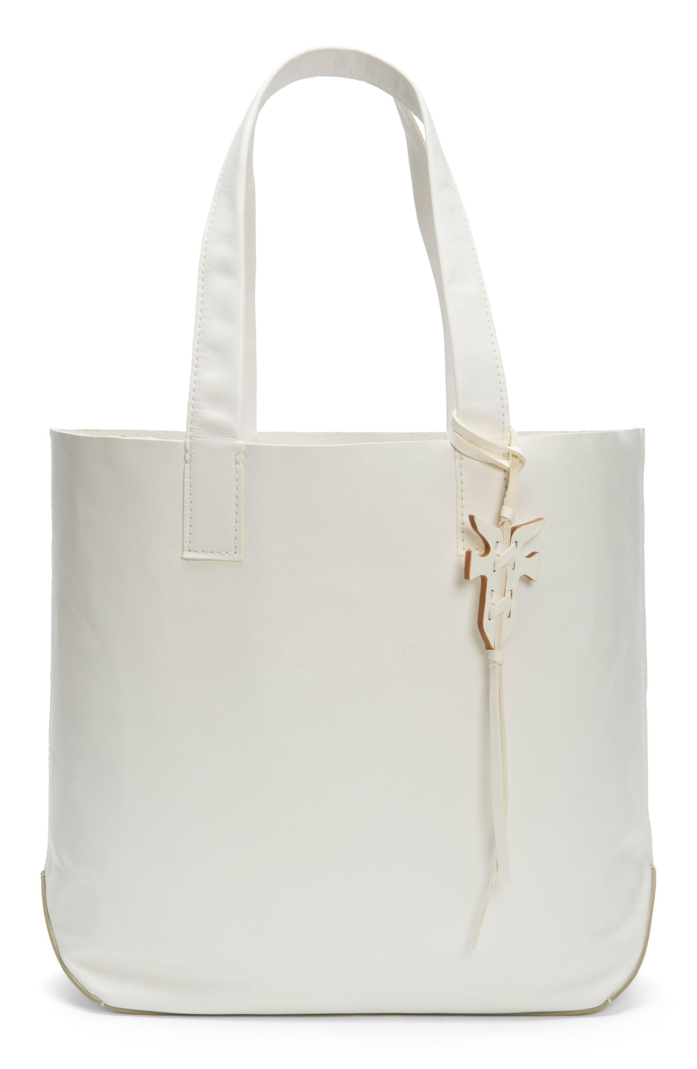 Frye Carson Leather Tote - White