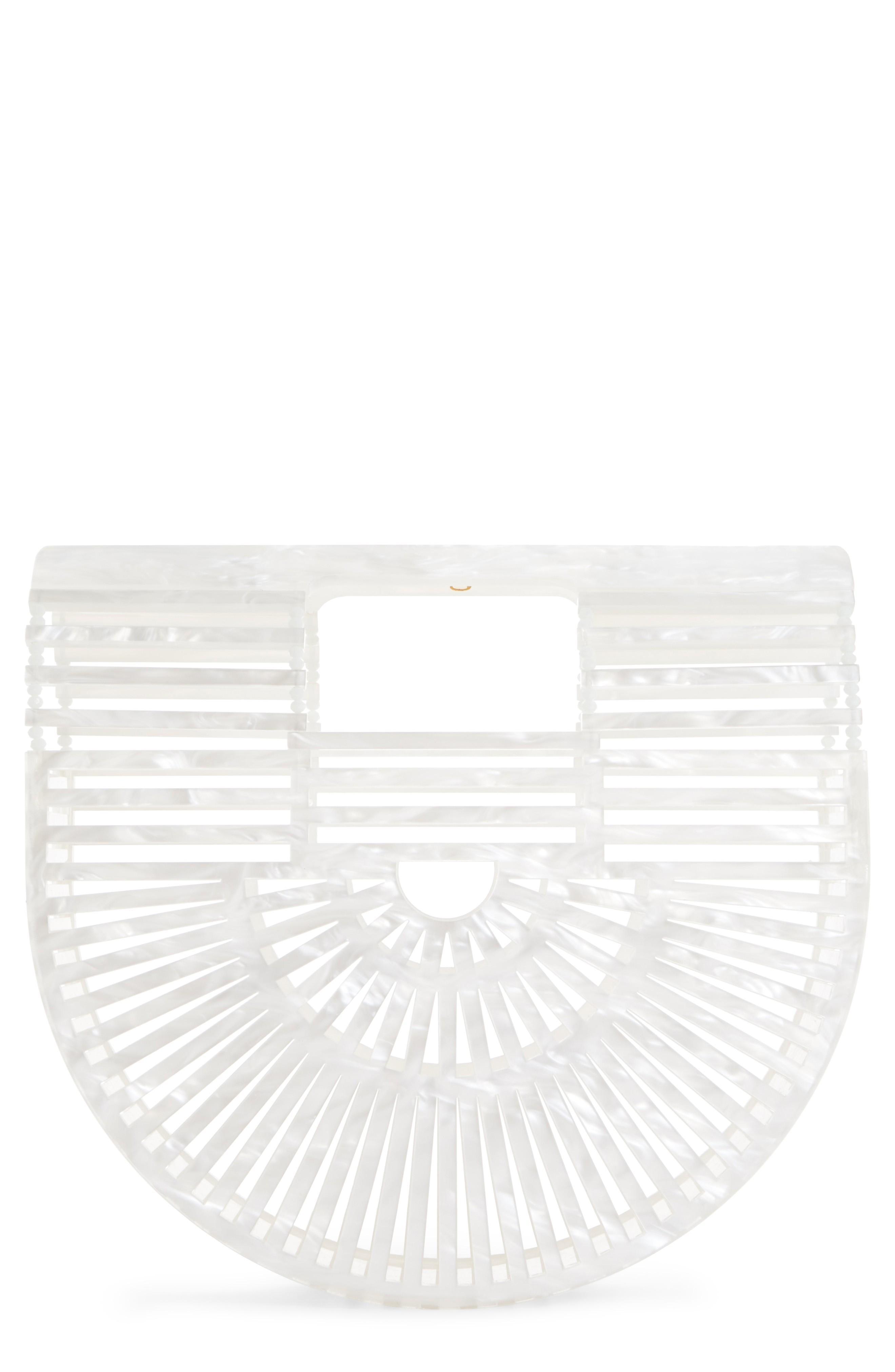 Cult Gaia Mini Ark Handbag - White In Pearl