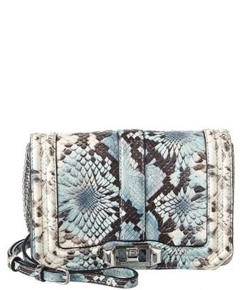Rebecca Minkoff Small Love Snake Embossed Leather Crossbody Bag - Blue In Blue Multi