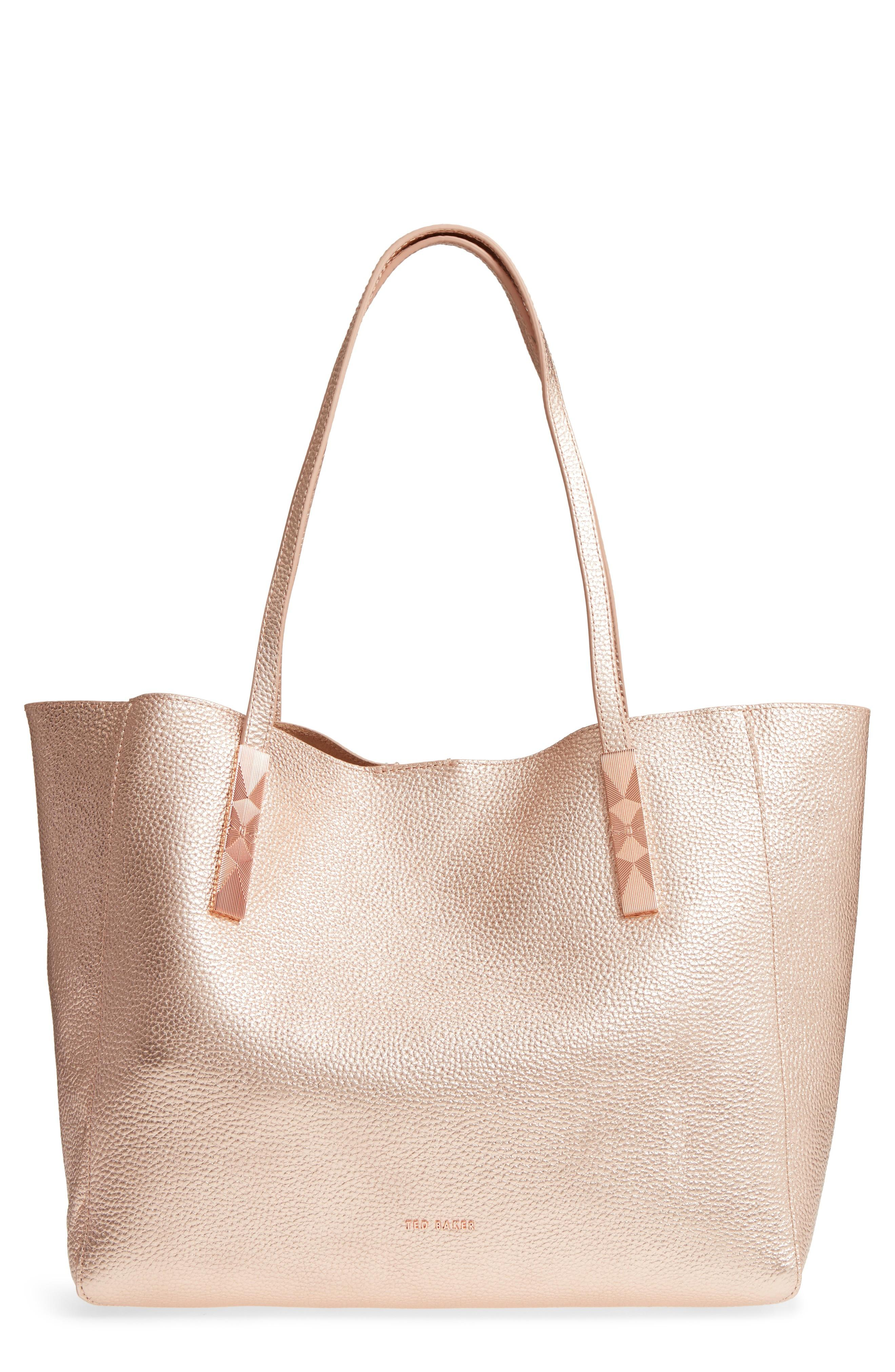 Ted Baker Pionila Leather Tote - Pink In Rose Gold