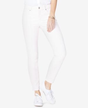 Nydj Alina Tummy-control Skinny Jeans In Light Primrose