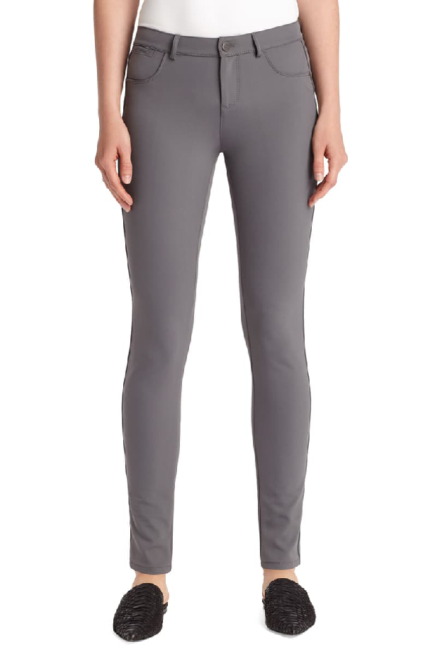 Lafayette 148 Mercer Acclaimed Stretch Skinny Pants In Shale