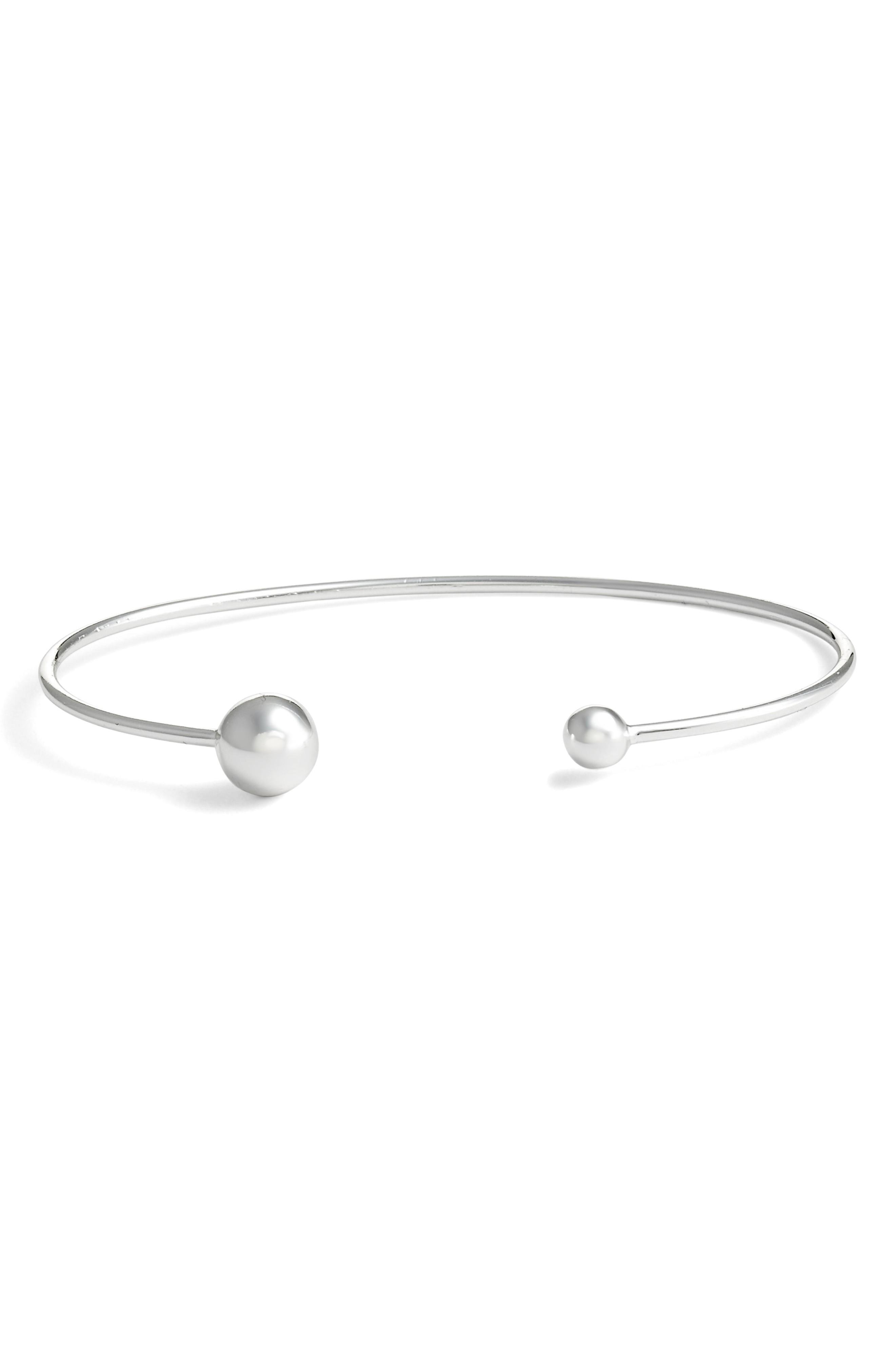 Argento Vivo Sphere Open Cuff Bracelet In Silver