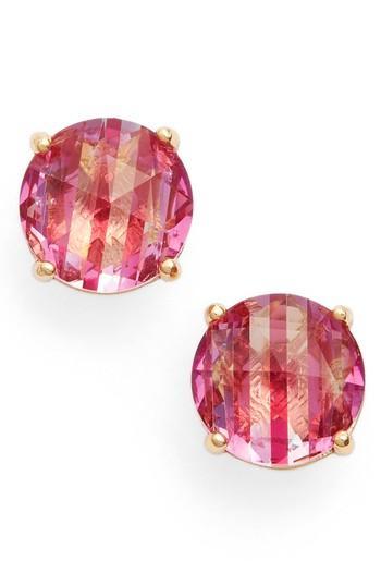 Kate Spade Bright Ideas Stripe Stud Earrings In Pink Multi
