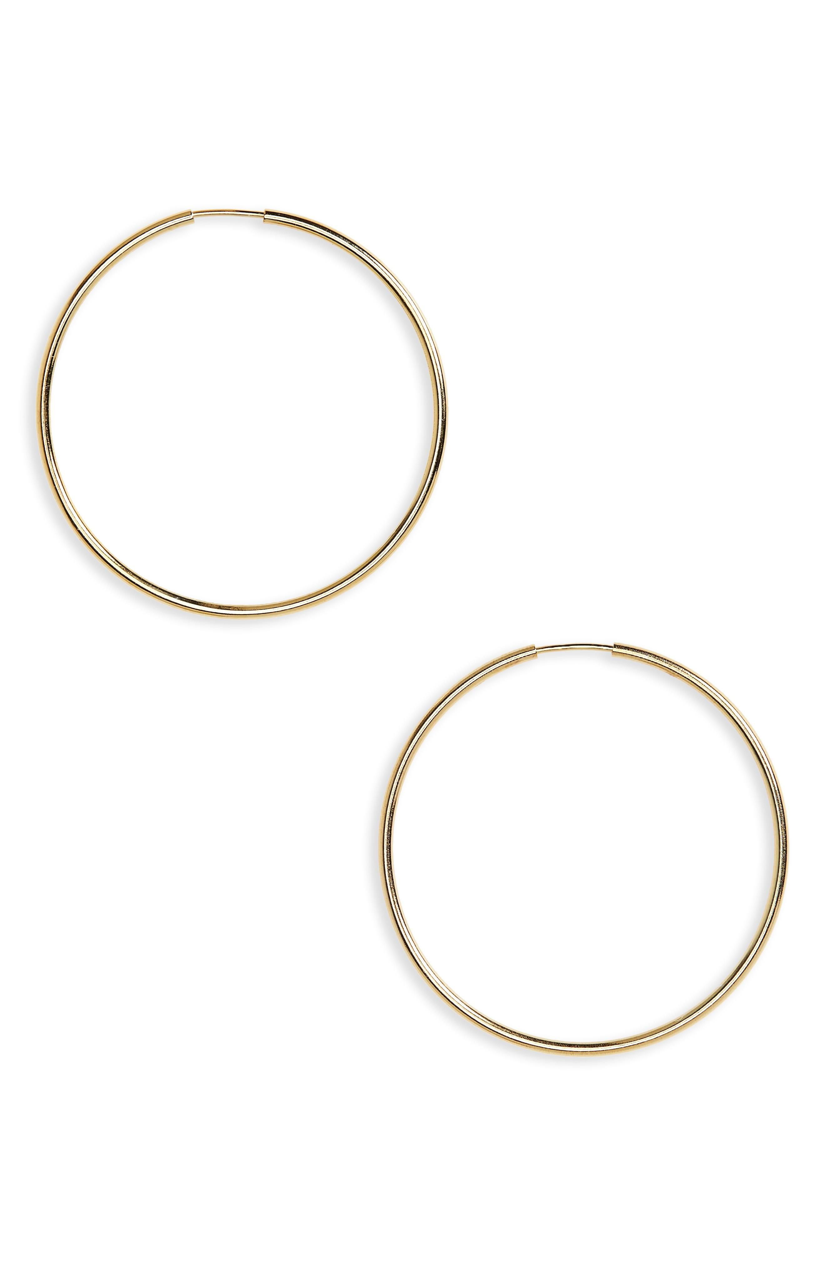 Argento Vivo Endless Hoops In Rose Gold