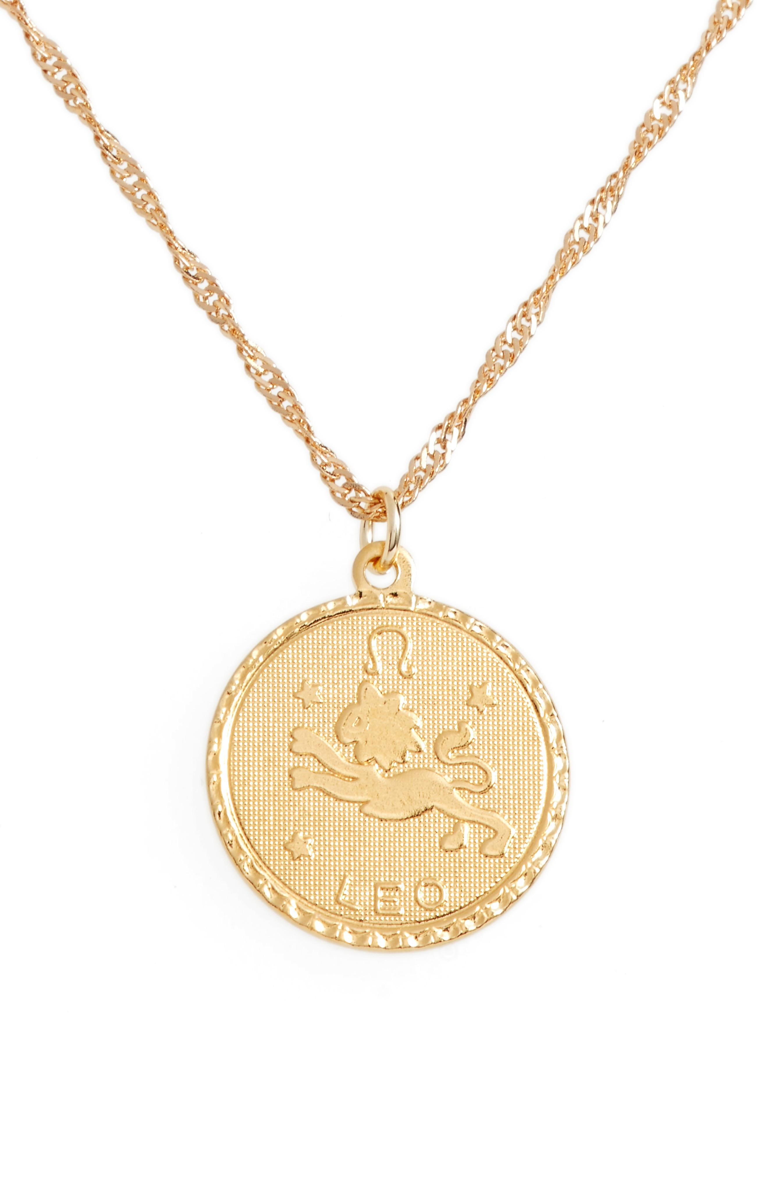Cam Ascending Zodiac Medallion Necklace In Leo
