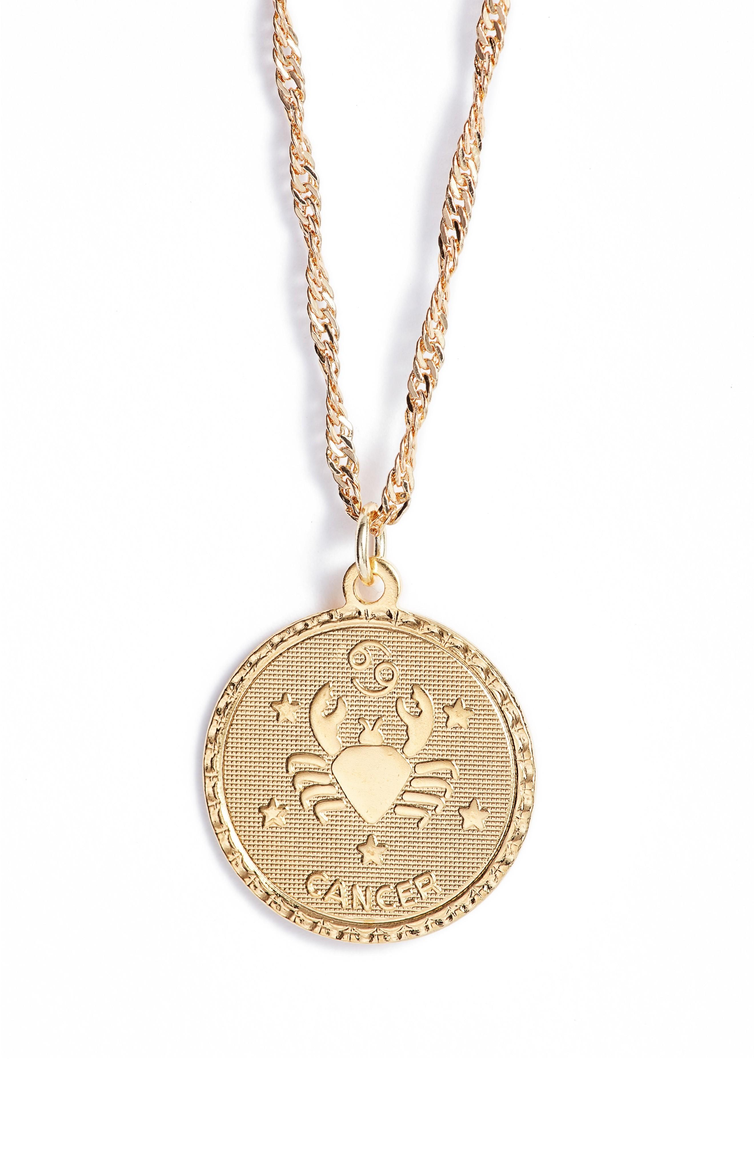 Cam Ascending Zodiac Medallion Necklace In Cancer