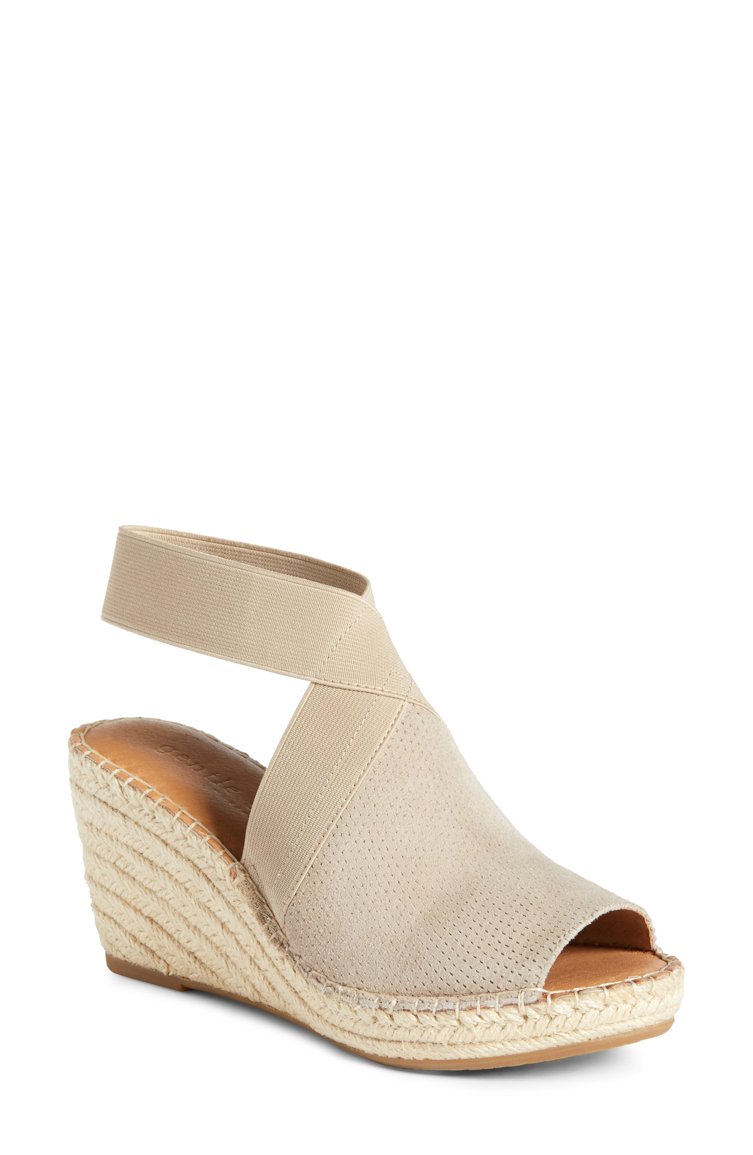 45b323d8c68 By Kenneth Cole Colleen Espadrille Wedge in Mushroom Suede