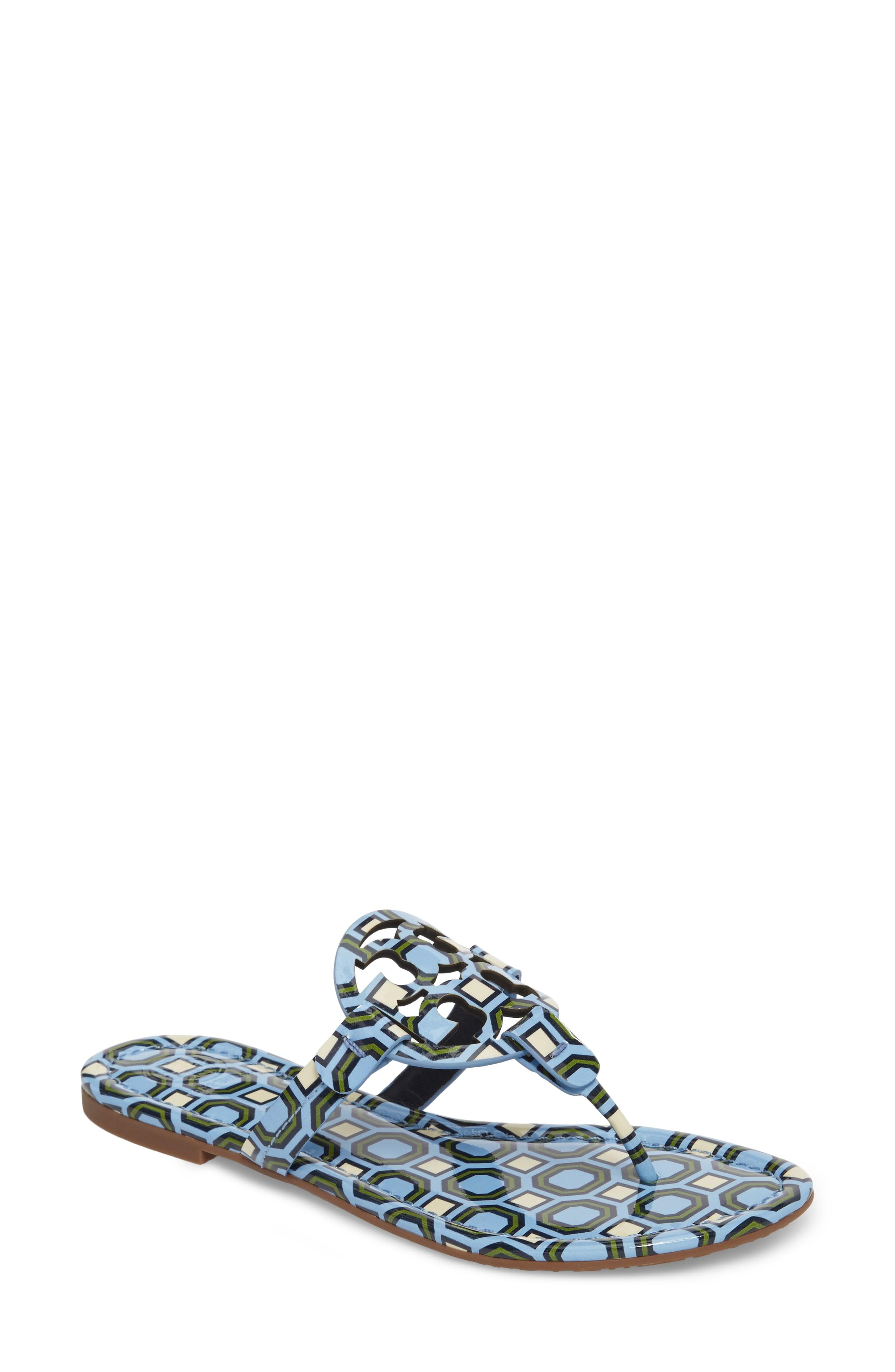 f537d85d8dc76 ... a bold logo cutout across the instep. A foam-cushioned footbed makes it  a comfortable choice for long summertime days. Style Name  Tory Burch   Miller  ...