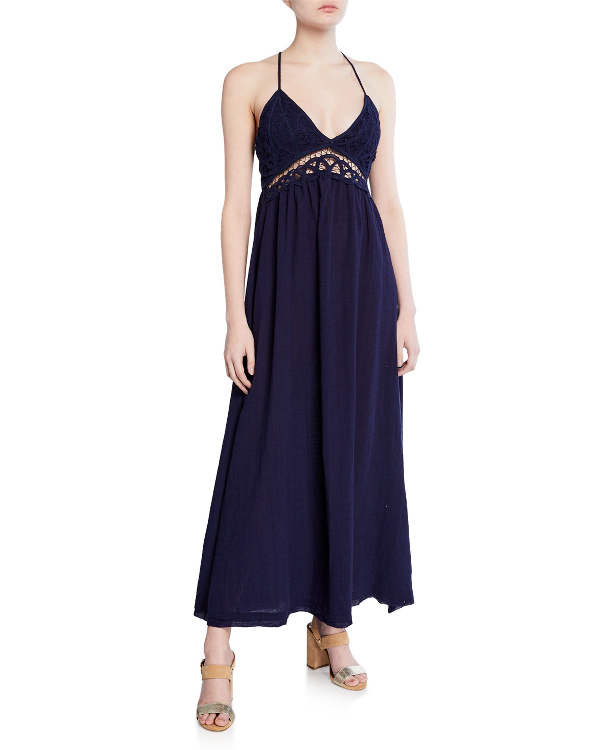 4b10932b6766 Moon River Lace-Bodice Maxi Dress - 100% Exclusive In Navy