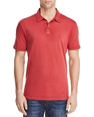 e93fa9bb7 John Varvatos Peace Sign Burnout Polo Shirt In Scarlet | ModeSens