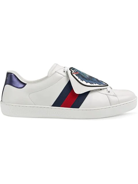 Gucci Ace Sneakers With Removable Patches In 9060