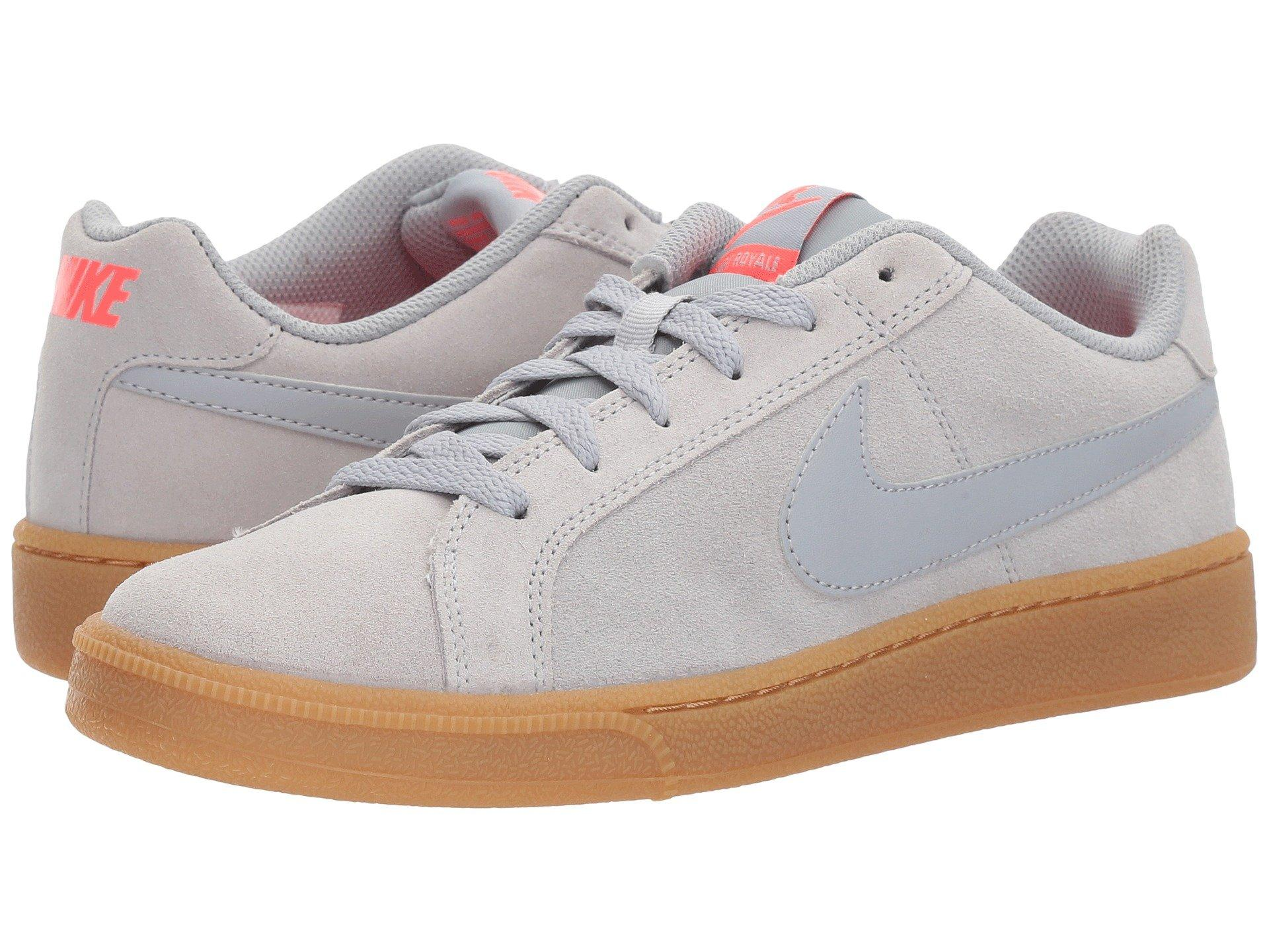 7630d00ee06 Nike Court Royale Suede In Wolf Grey Wolf Grey Solar Red