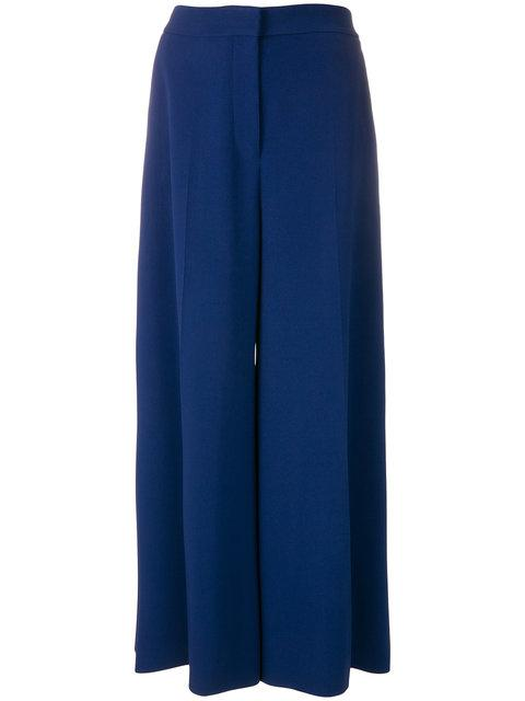 Stella Mccartney High Waisted Palazzo Trousers - Blue