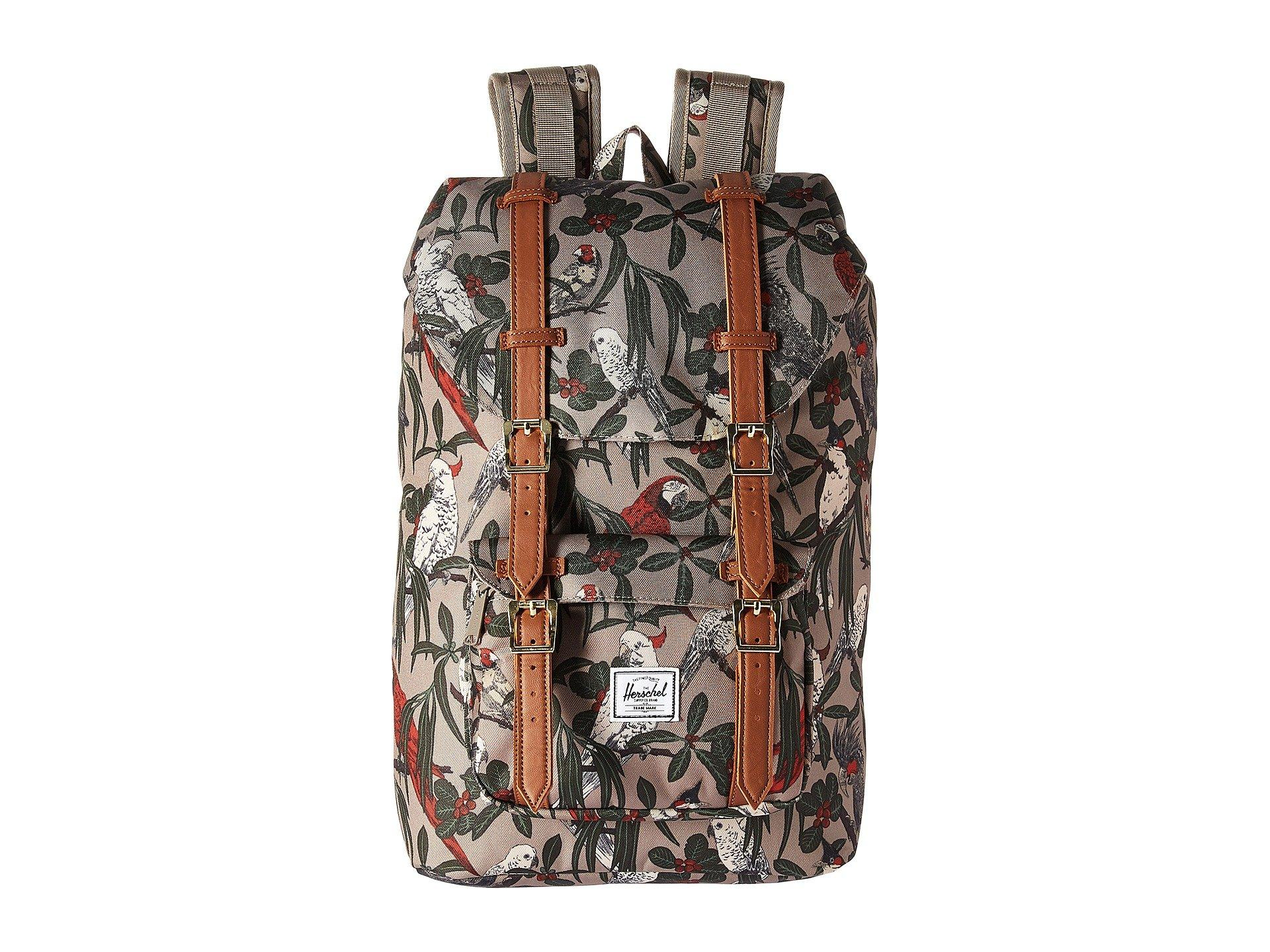 49dca8d25 Herschel Supply Co. Little America Mid-Volume In Brindle Parlour/Tan  Synthetic Leather