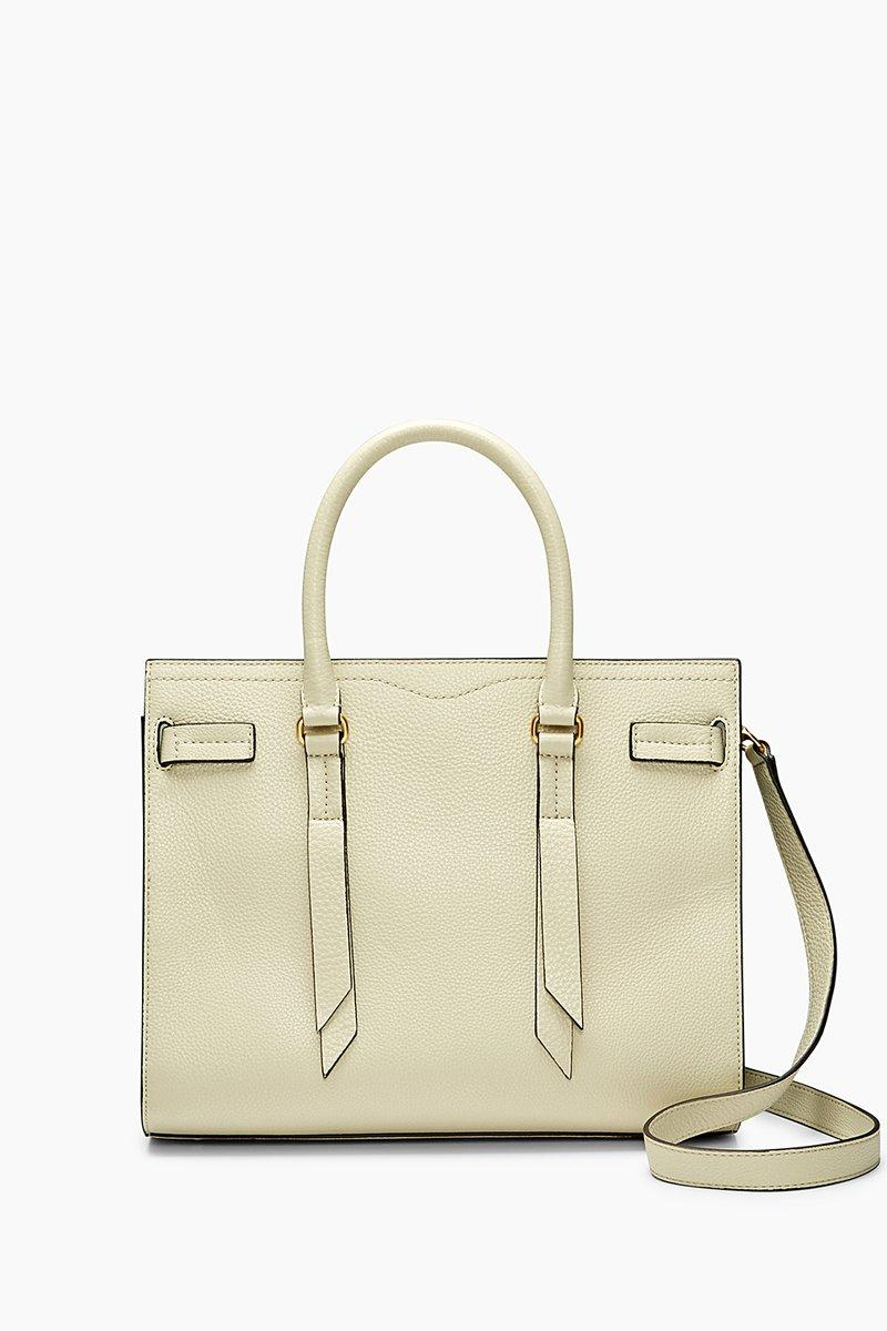 Rebecca Minkoff Sherry Calfskin Leather Satchel - White In Albstr Multi