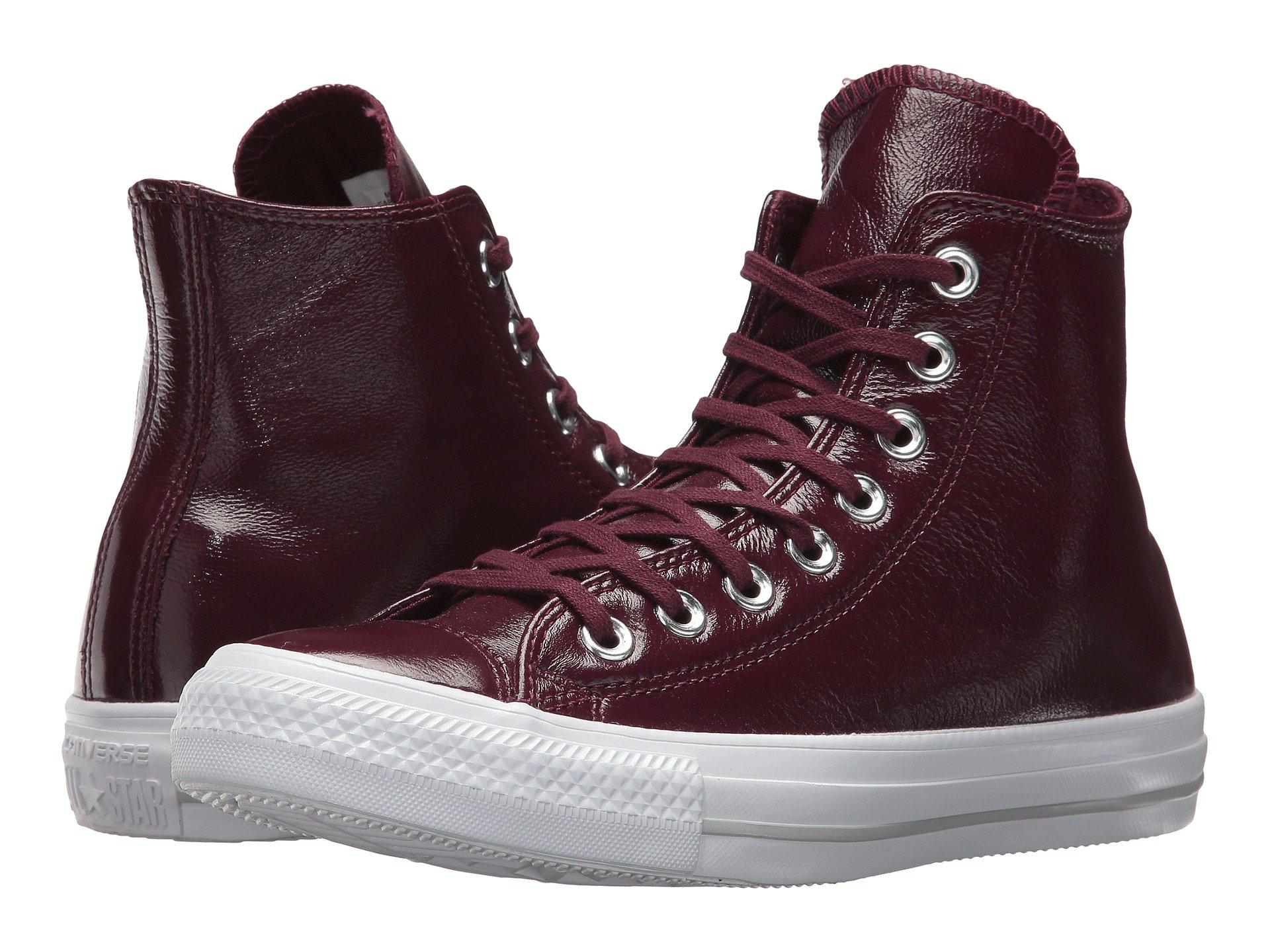 080b477c4b67 Converse Chuck Taylor® All Star® Crinkled Patent Leather Hi In Dark  Sangria Dark
