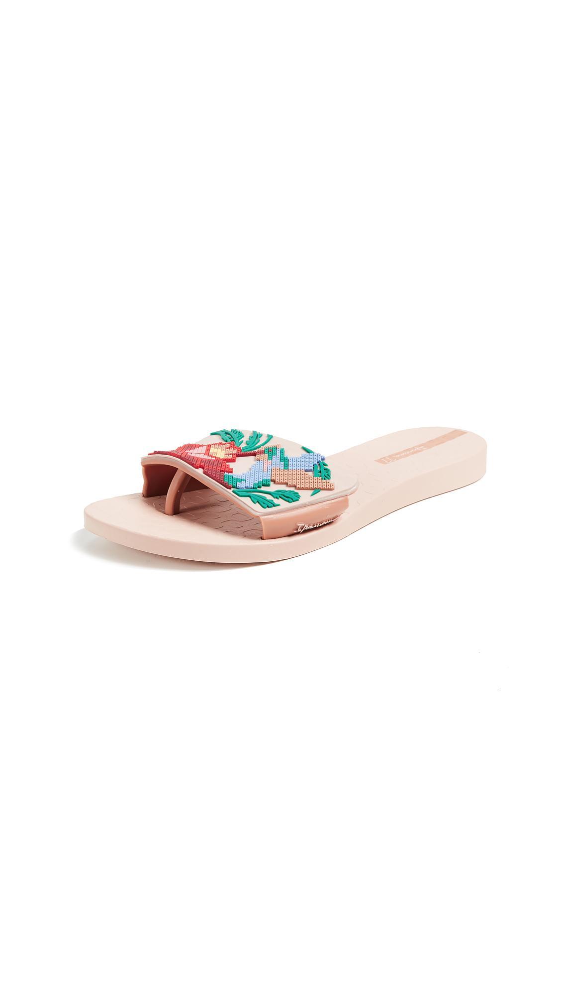 27b702b910e Ipanema Nectar Floral Slide Sandal In Pink Beige