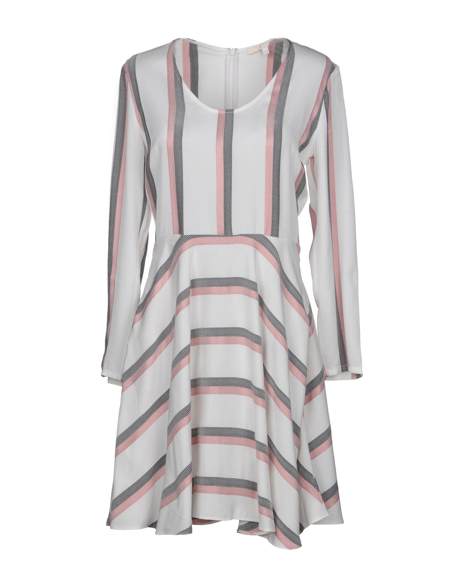 Maje Short Dress In White