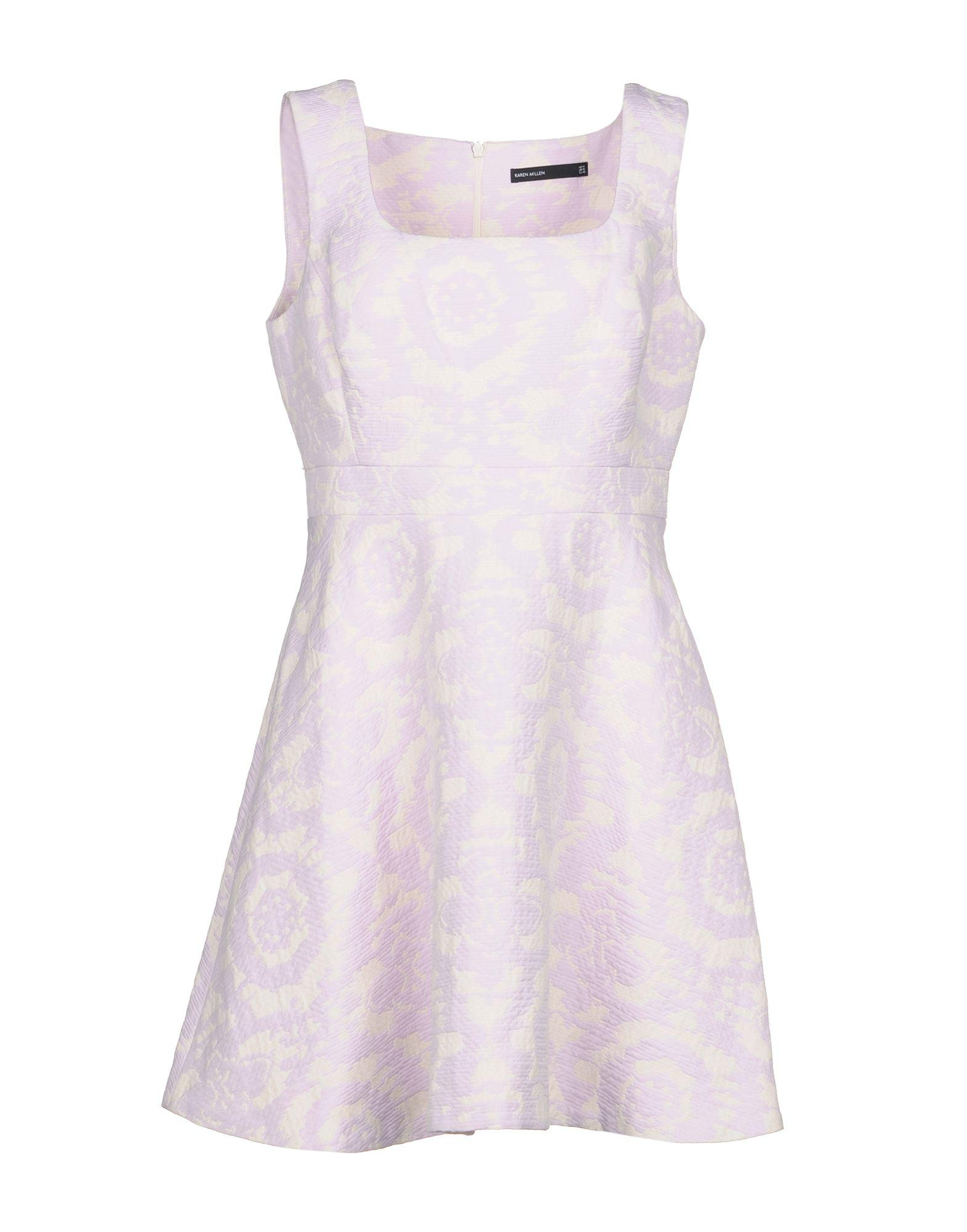 Karen Millen Short Dresses In Lilac